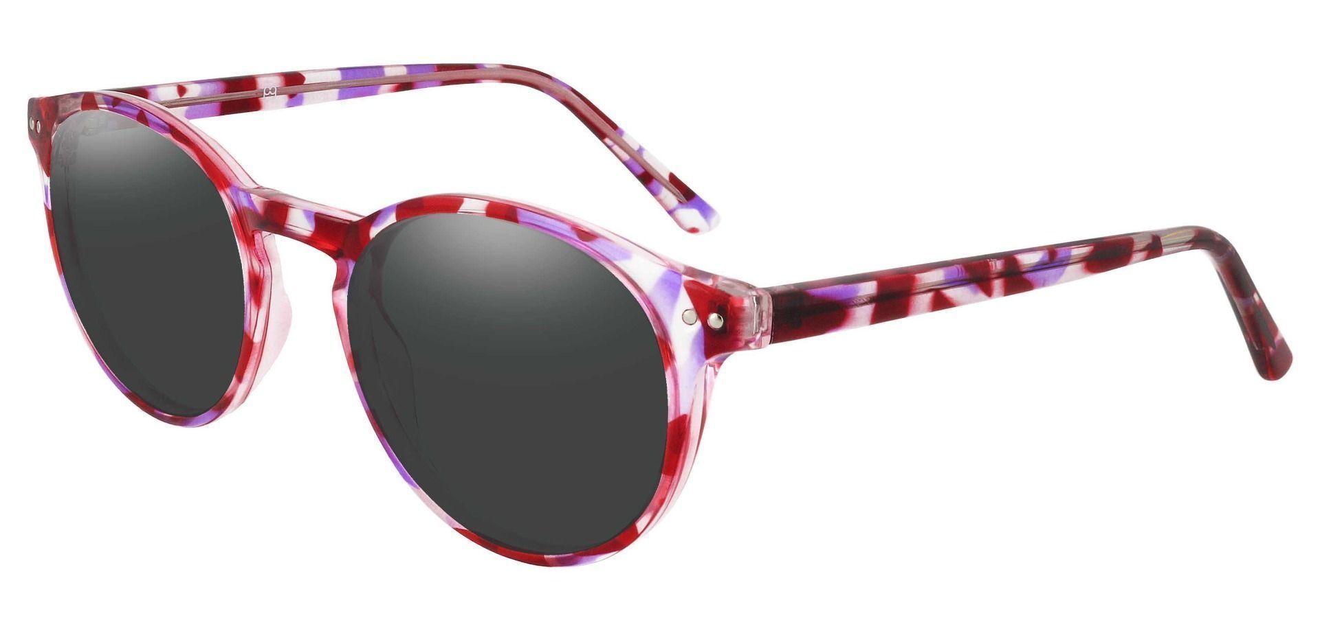 Harmony Oval Prescription Sunglasses - Purple Frame With Gray Lenses
