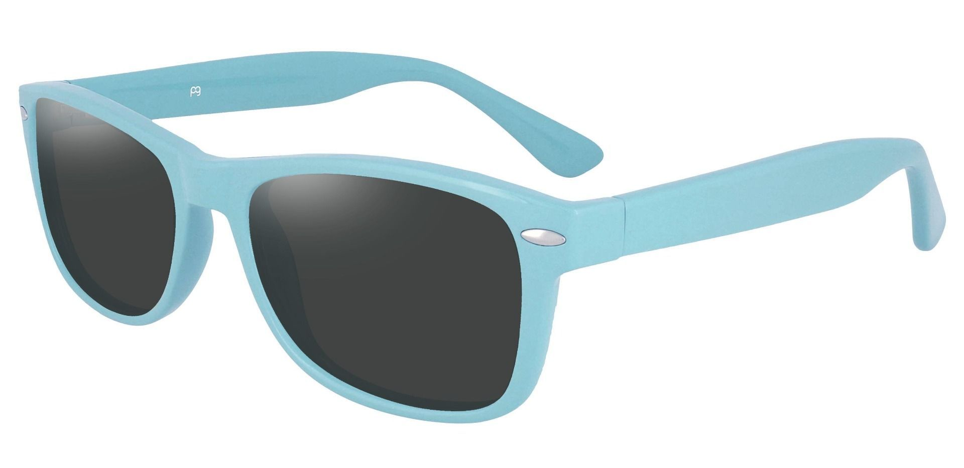 Kent Rectangle Prescription Sunglasses - Blue Frame With Gray Lenses