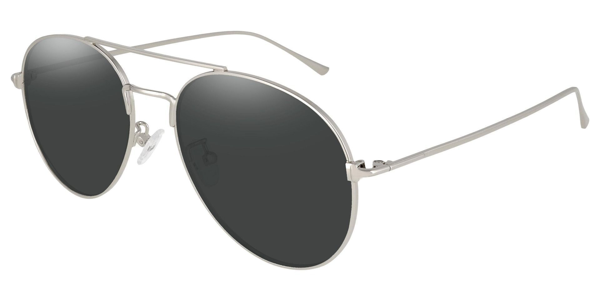 Canon Aviator Reading Sunglasses - Silver Frame With Gray Lenses
