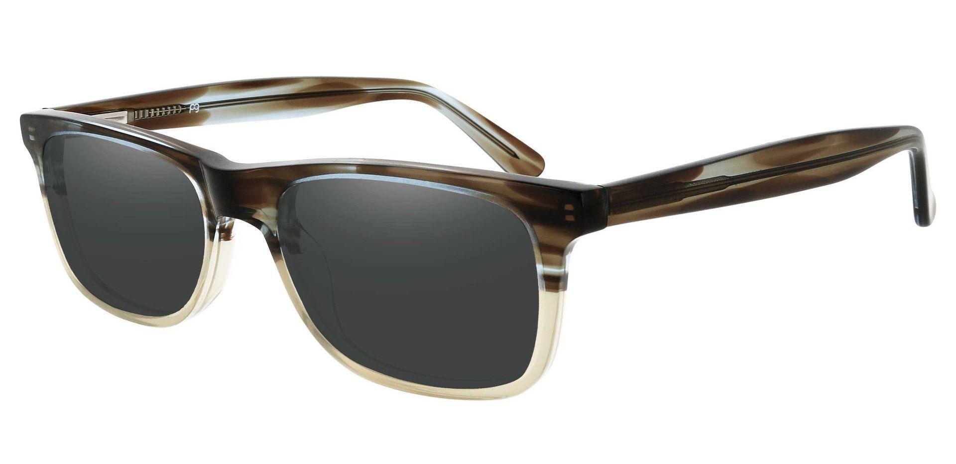 Denali Rectangle Prescription Sunglasses - Multi Color Frame With Gray Lenses