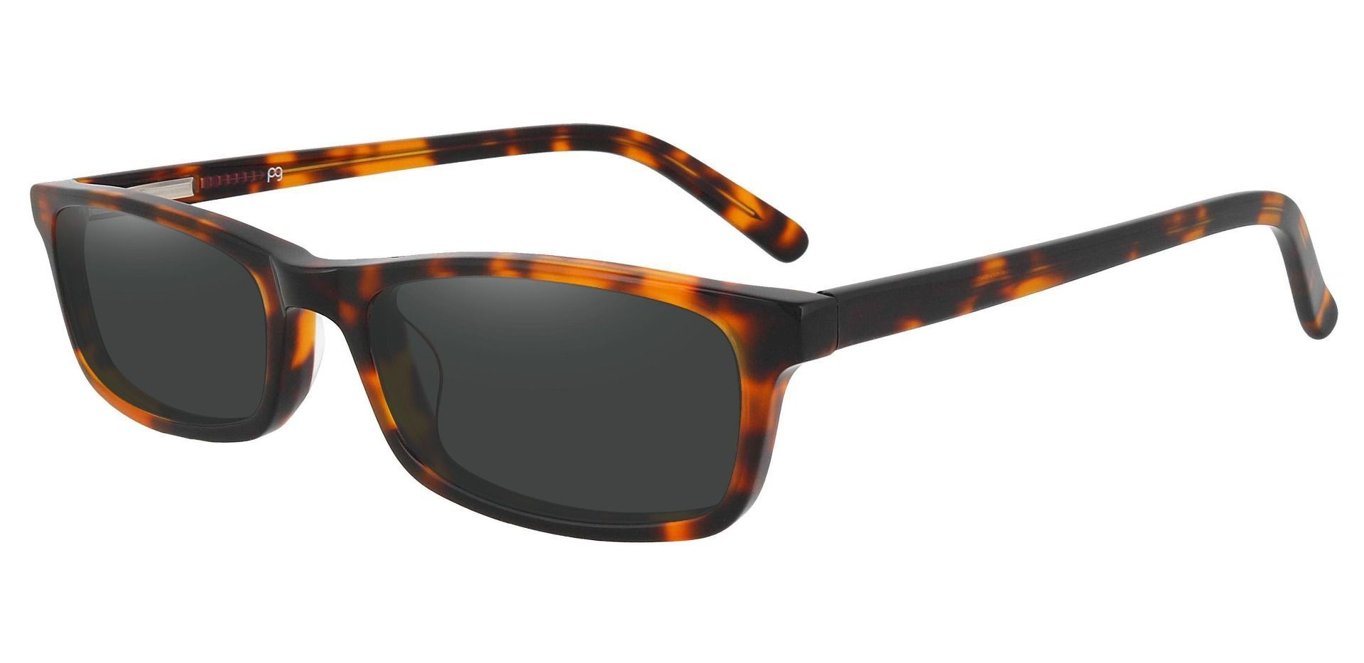 Palisades Rectangle Non-Rx Sunglasses - Tortoise Frame With Gray Lenses