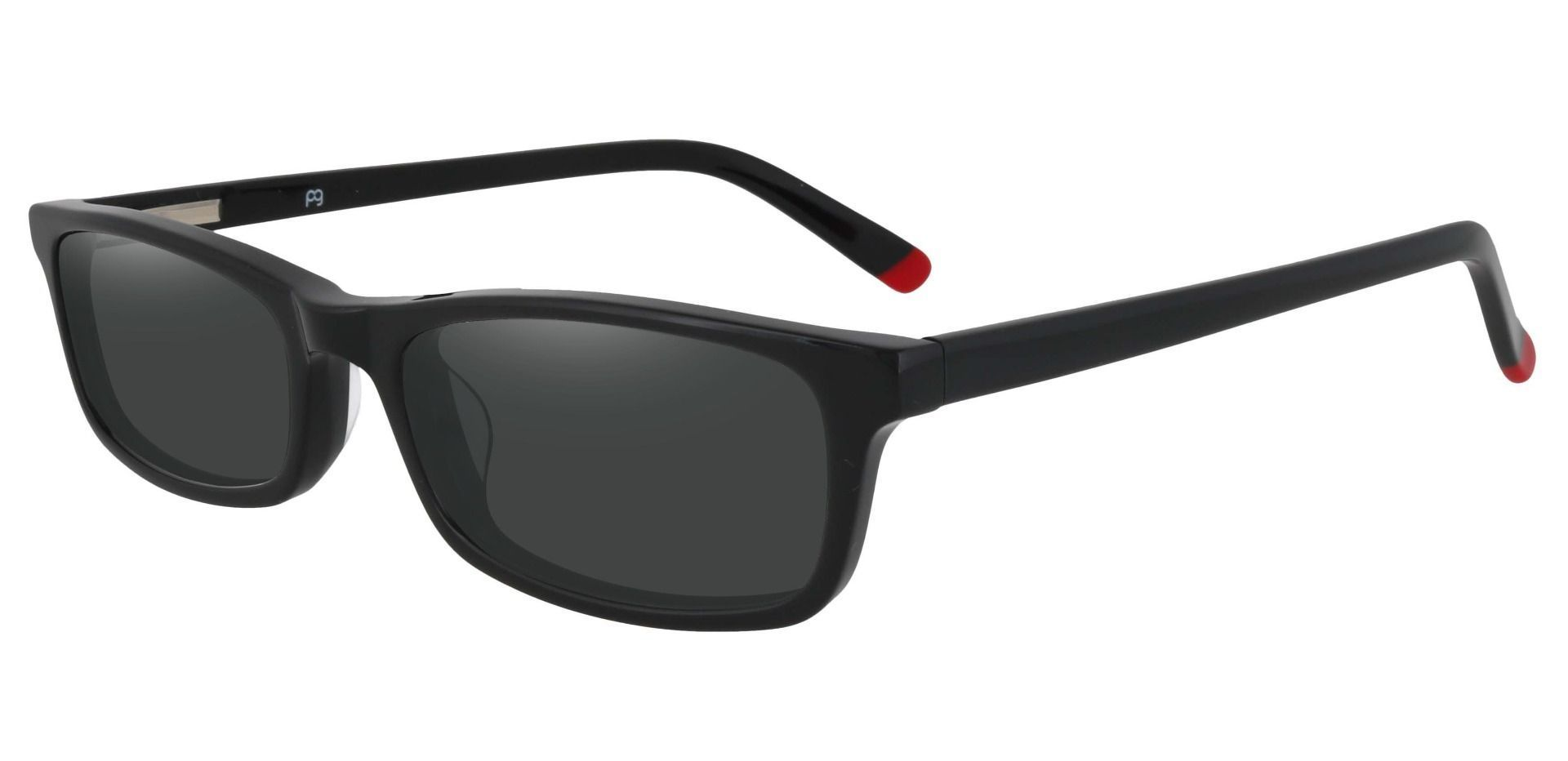 Palisades Rectangle Non-Rx Sunglasses - Black Frame With Gray Lenses