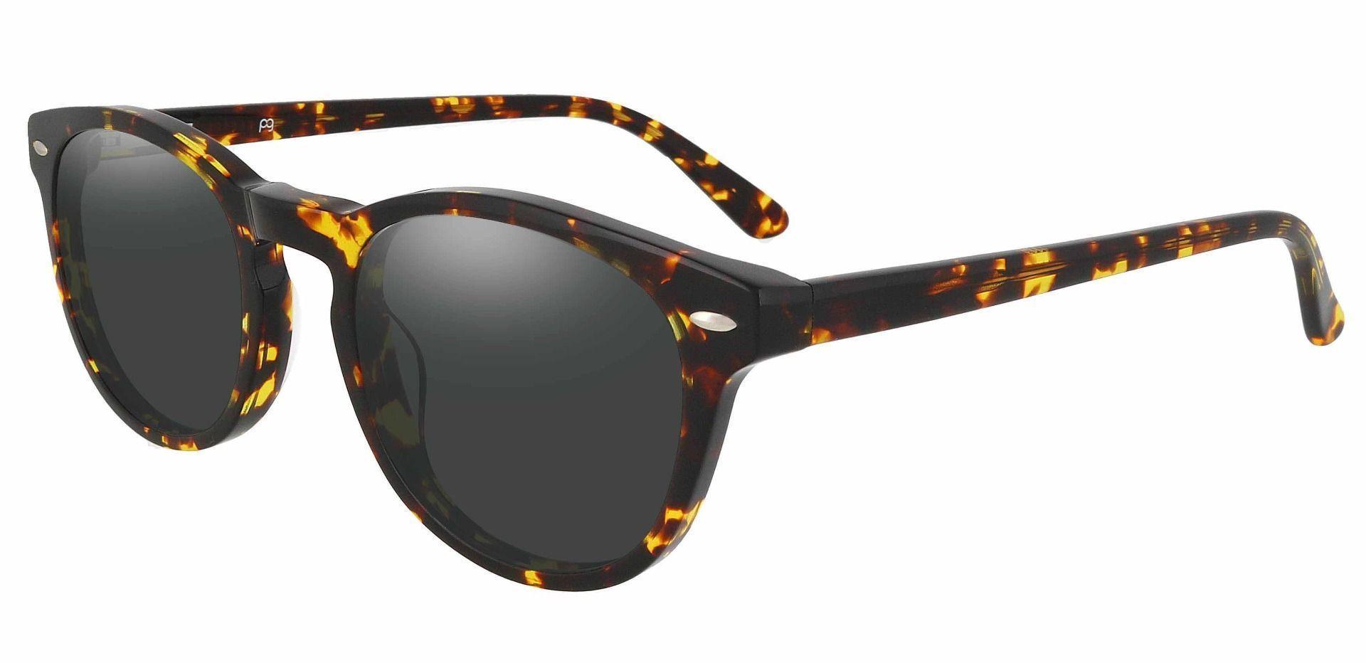 Laguna Oval Lined Bifocal Sunglasses - Tortoise Frame With Gray Lenses