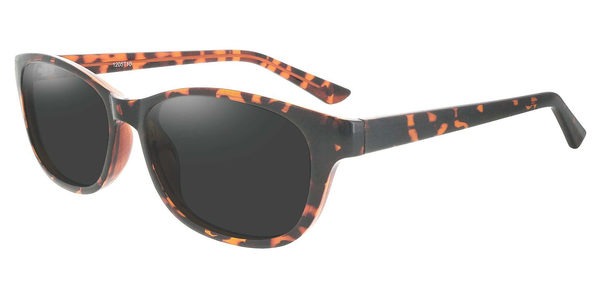 Reyna Classic Square Non-Rx Sunglasses - Tortoise Frame With Gray Lenses