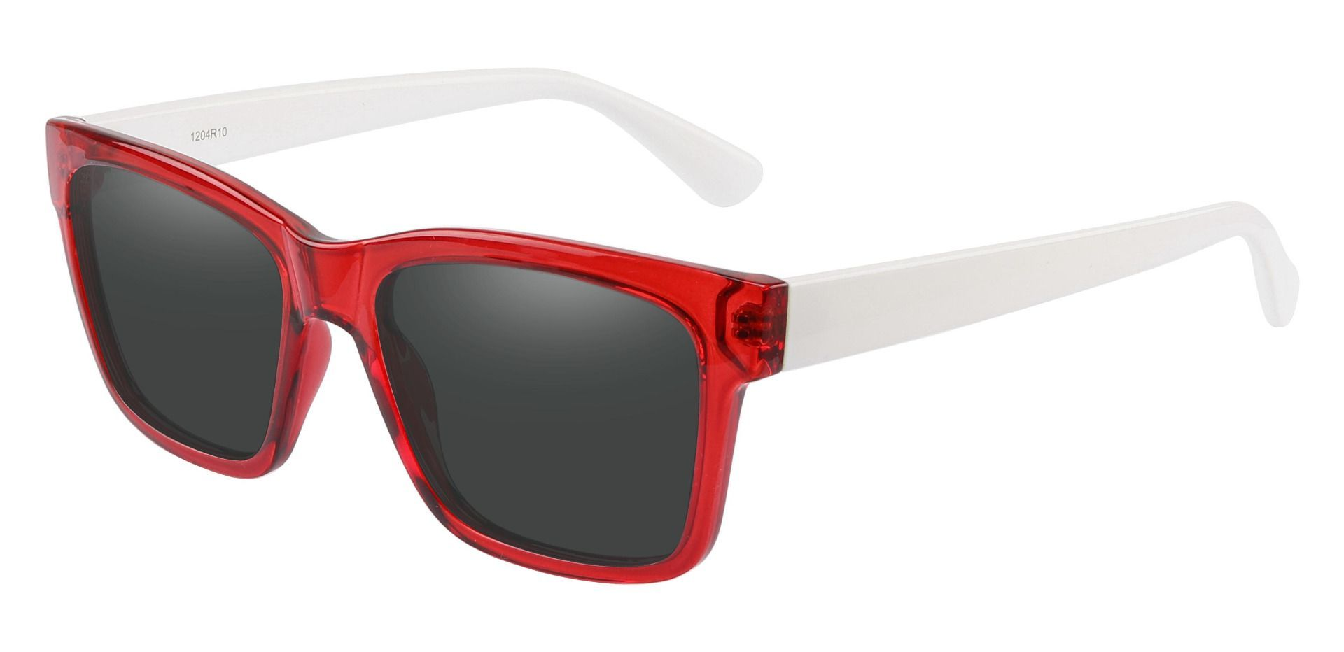 Brinley Square Reading Sunglasses - Red Frame With Gray Lenses