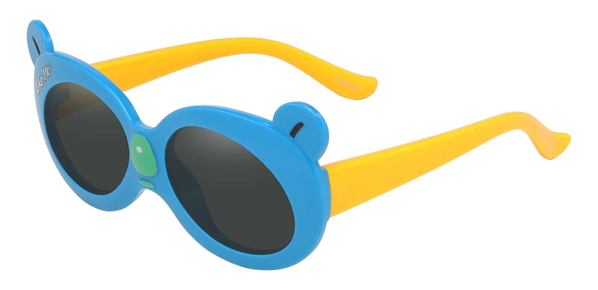 Tito Oval Single Vision Sunglasses - Blue Frame With Gray Lenses