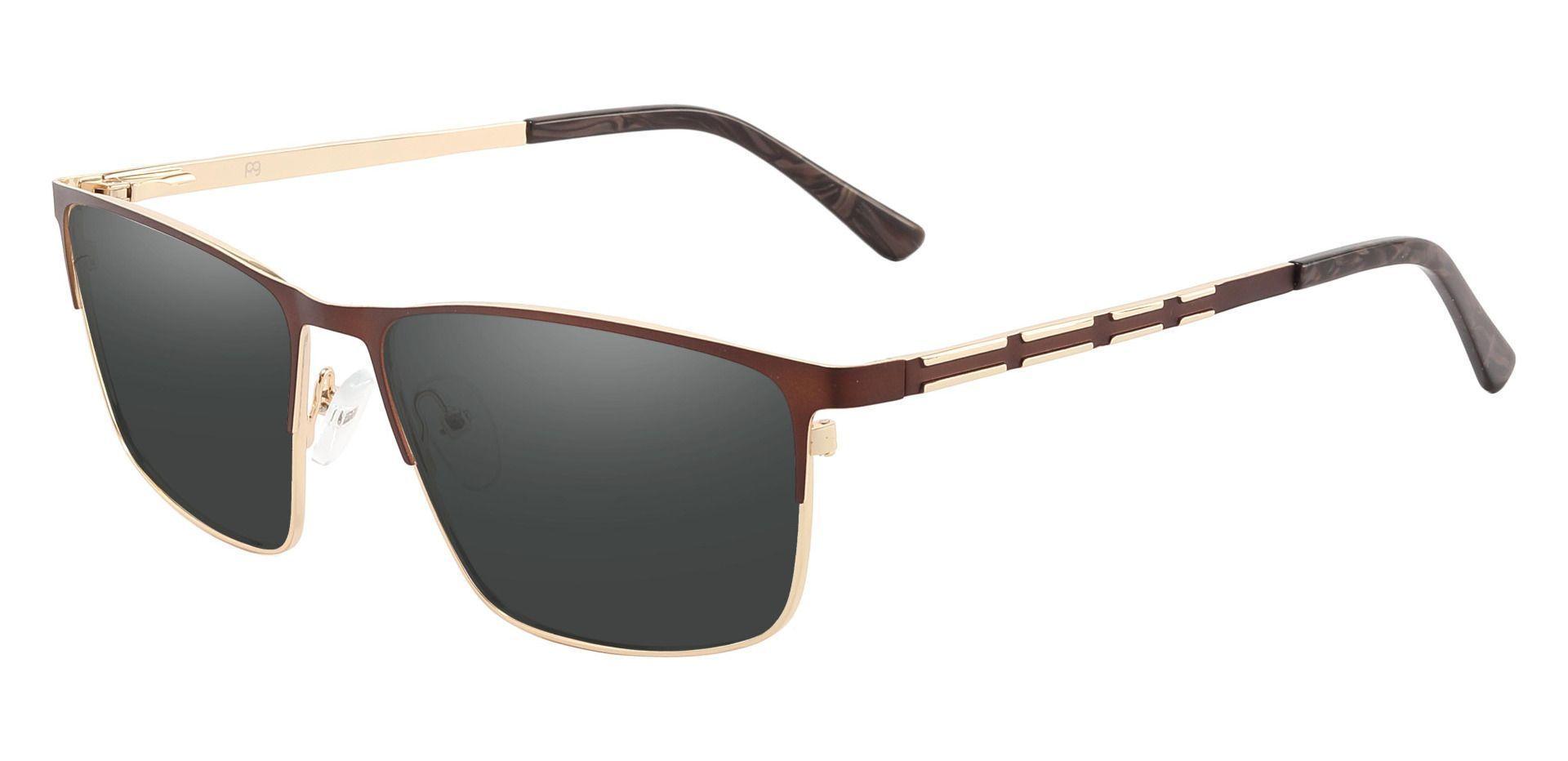Hamlet Browline Prescription Sunglasses - Brown Frame With Gray Lenses