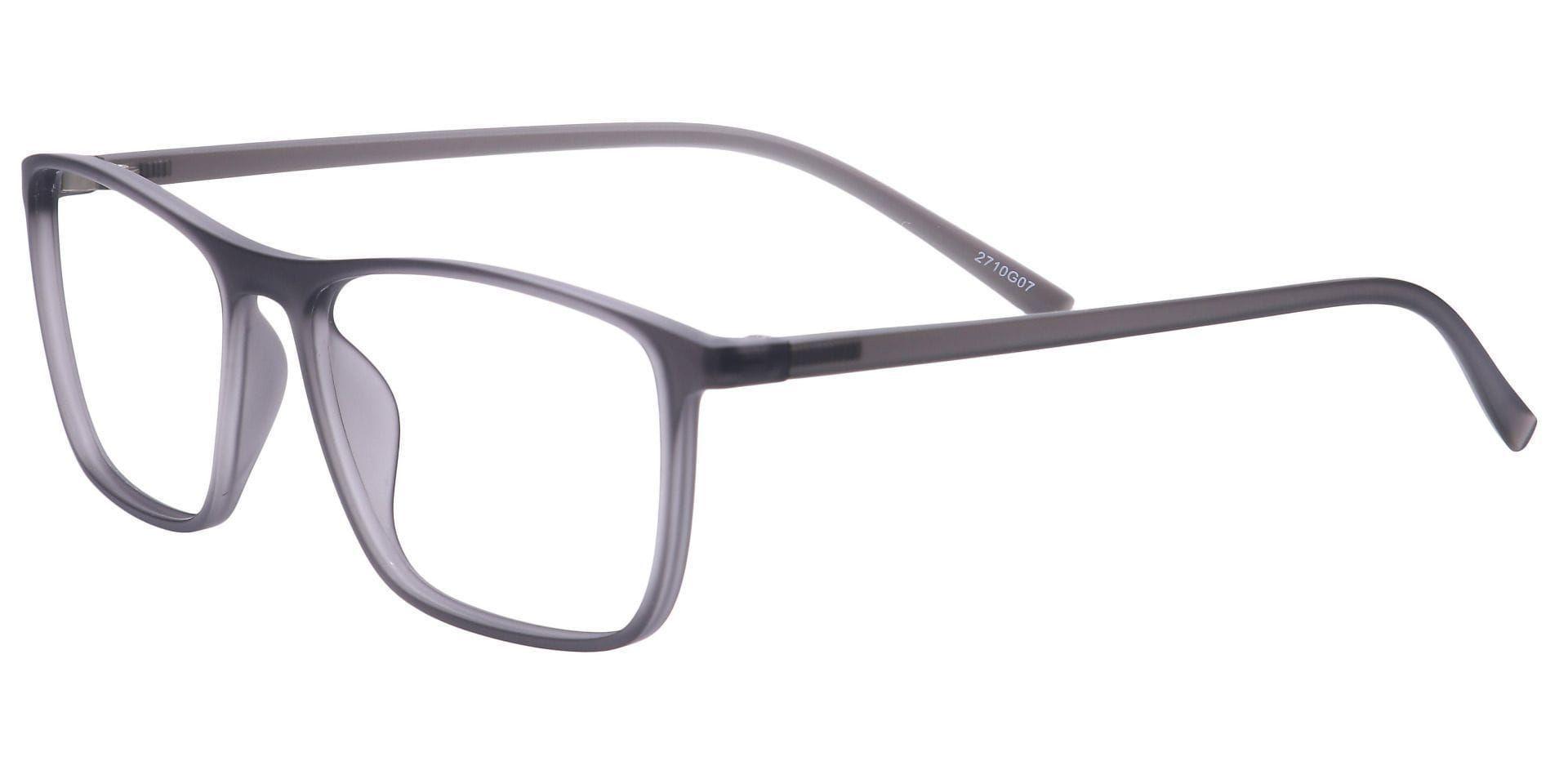 Candid Rectangle Blue Light Blocking Glasses - Gray