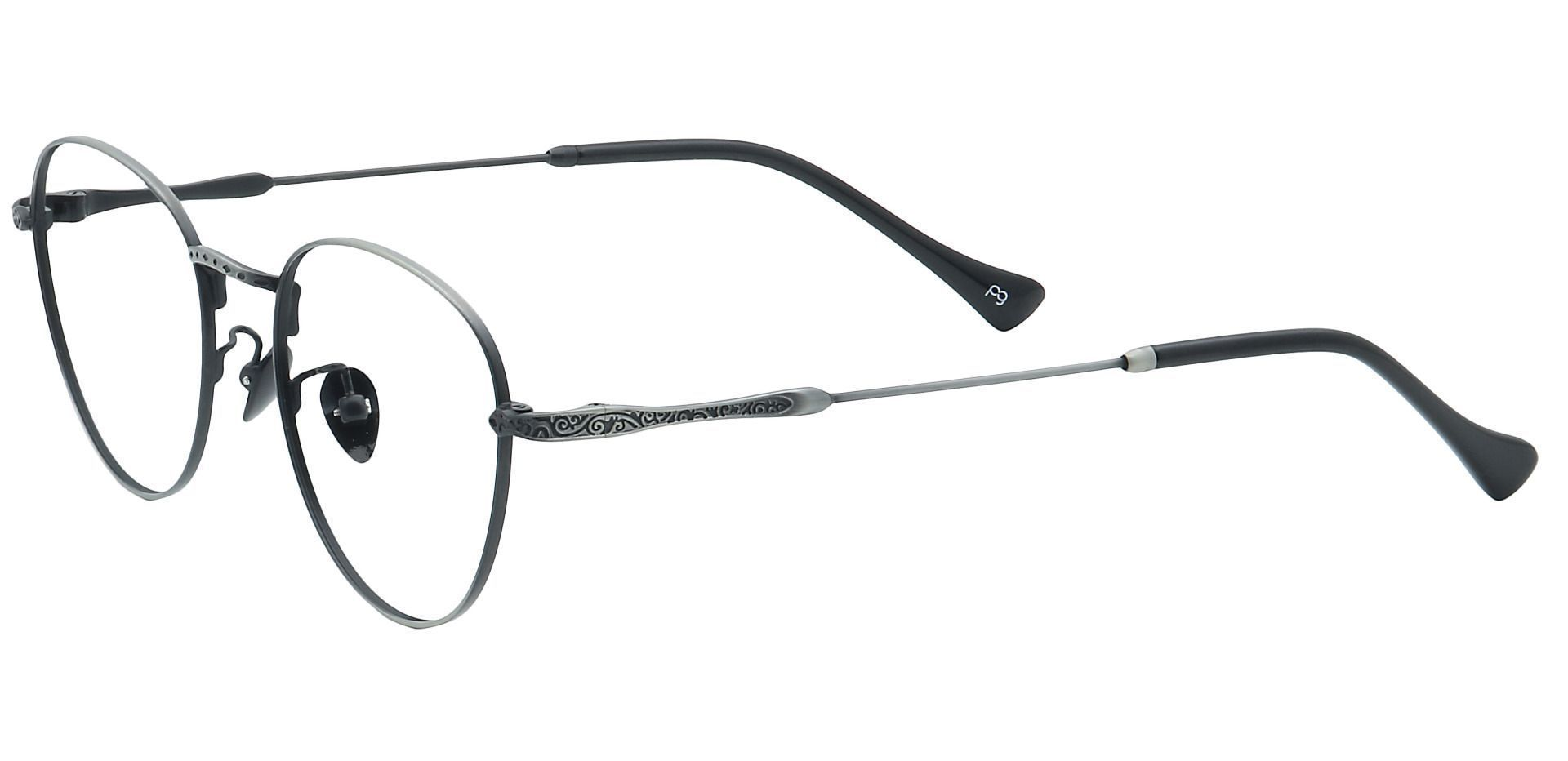 Shawn Oval Blue Light Blocking Glasses - Gray