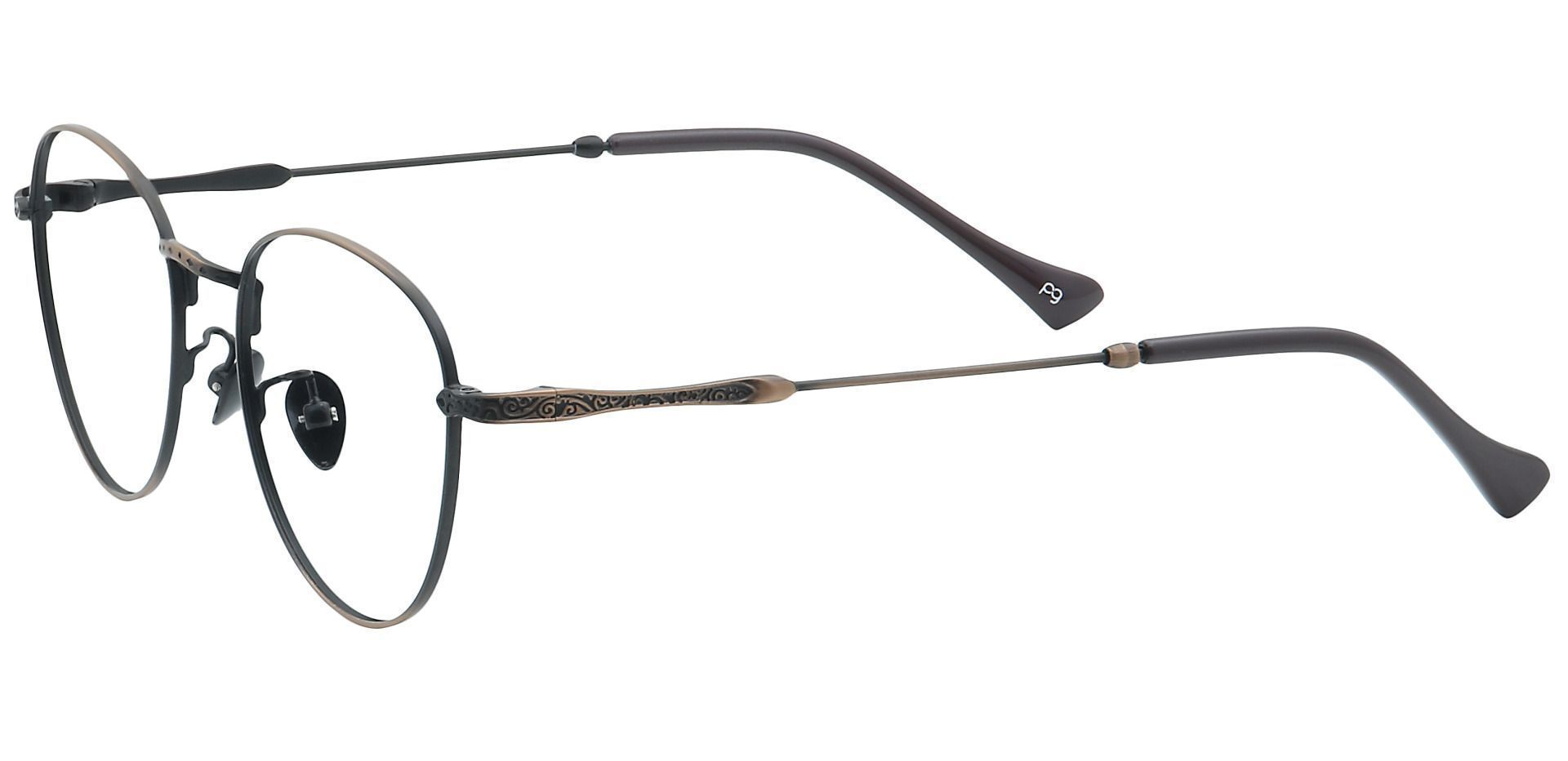 Shawn Oval Prescription Glasses - Brown