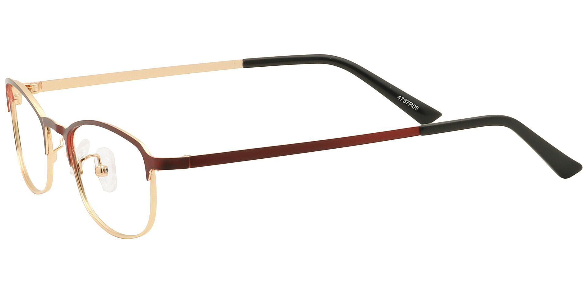 Tyrell Oval Reading Glasses - Red