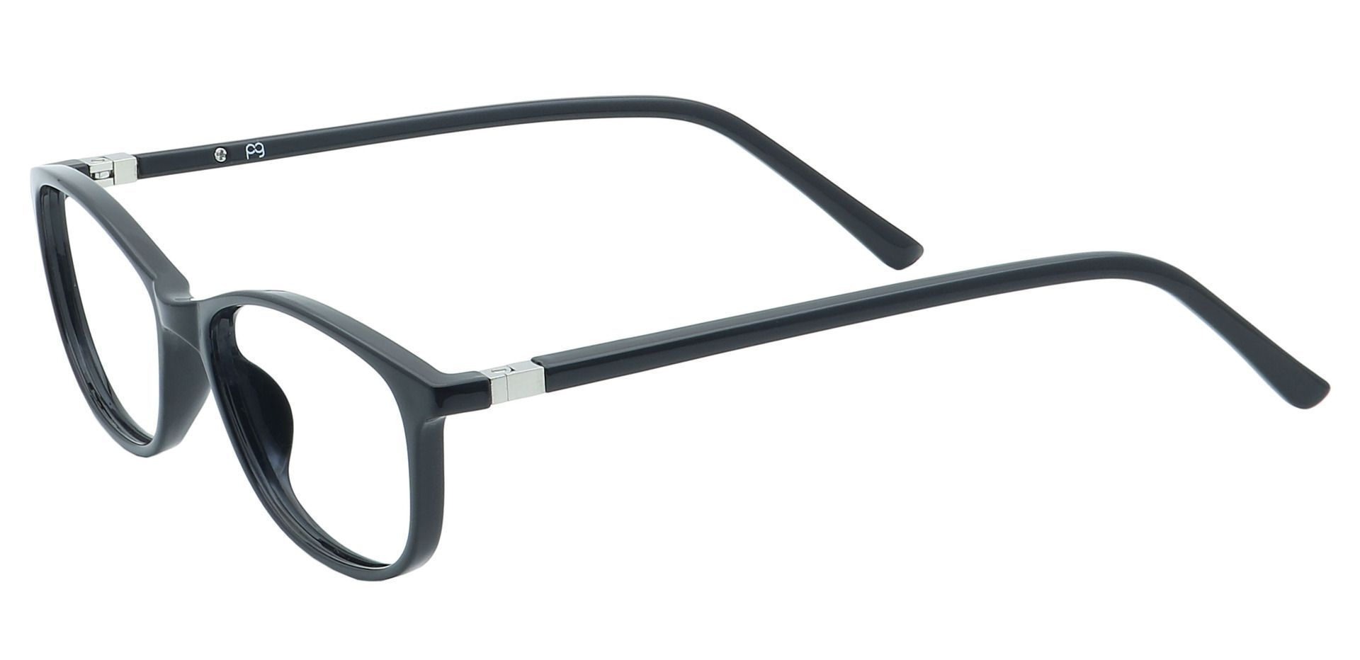 Annie Oval Prescription Glasses - Black