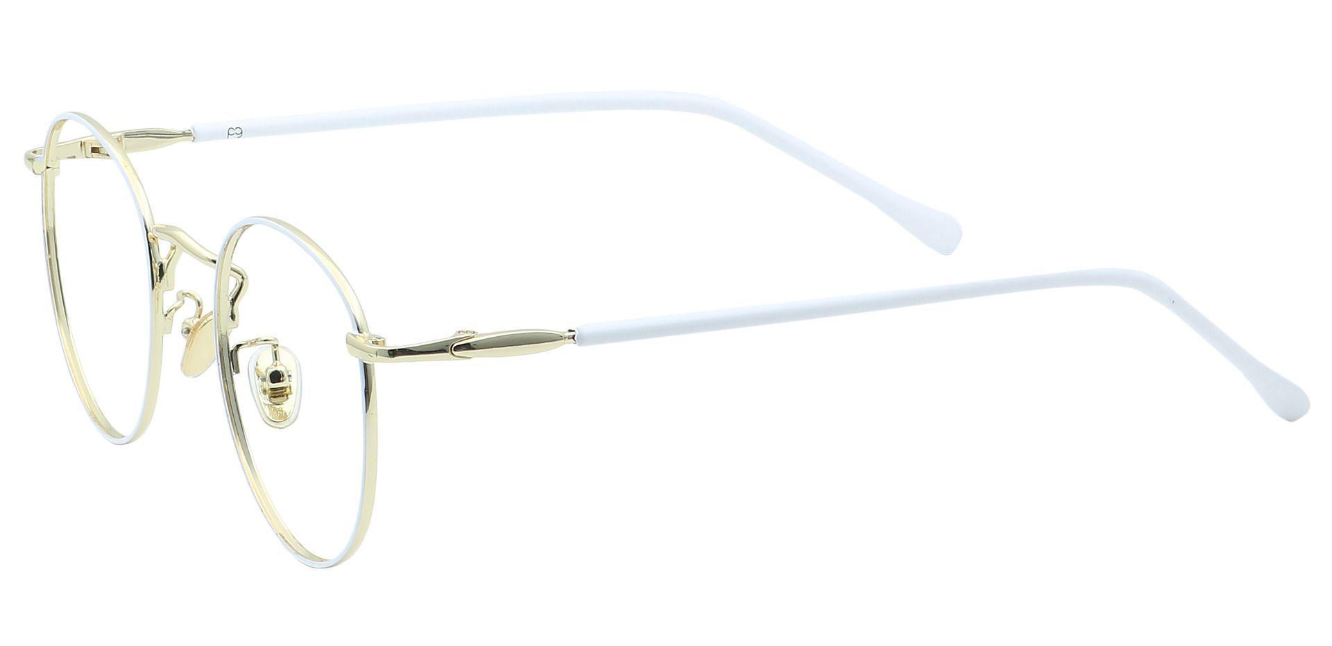 Metro Round Lined Bifocal Glasses - White