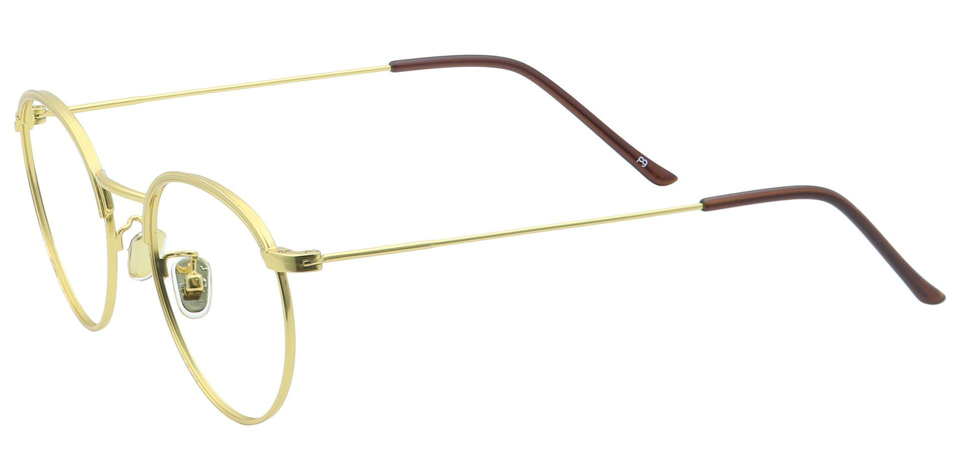 Cooper Oval Prescription Glasses - Yellow