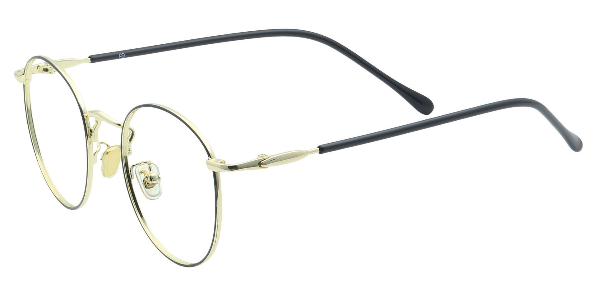 Metro Round Prescription Glasses - Black