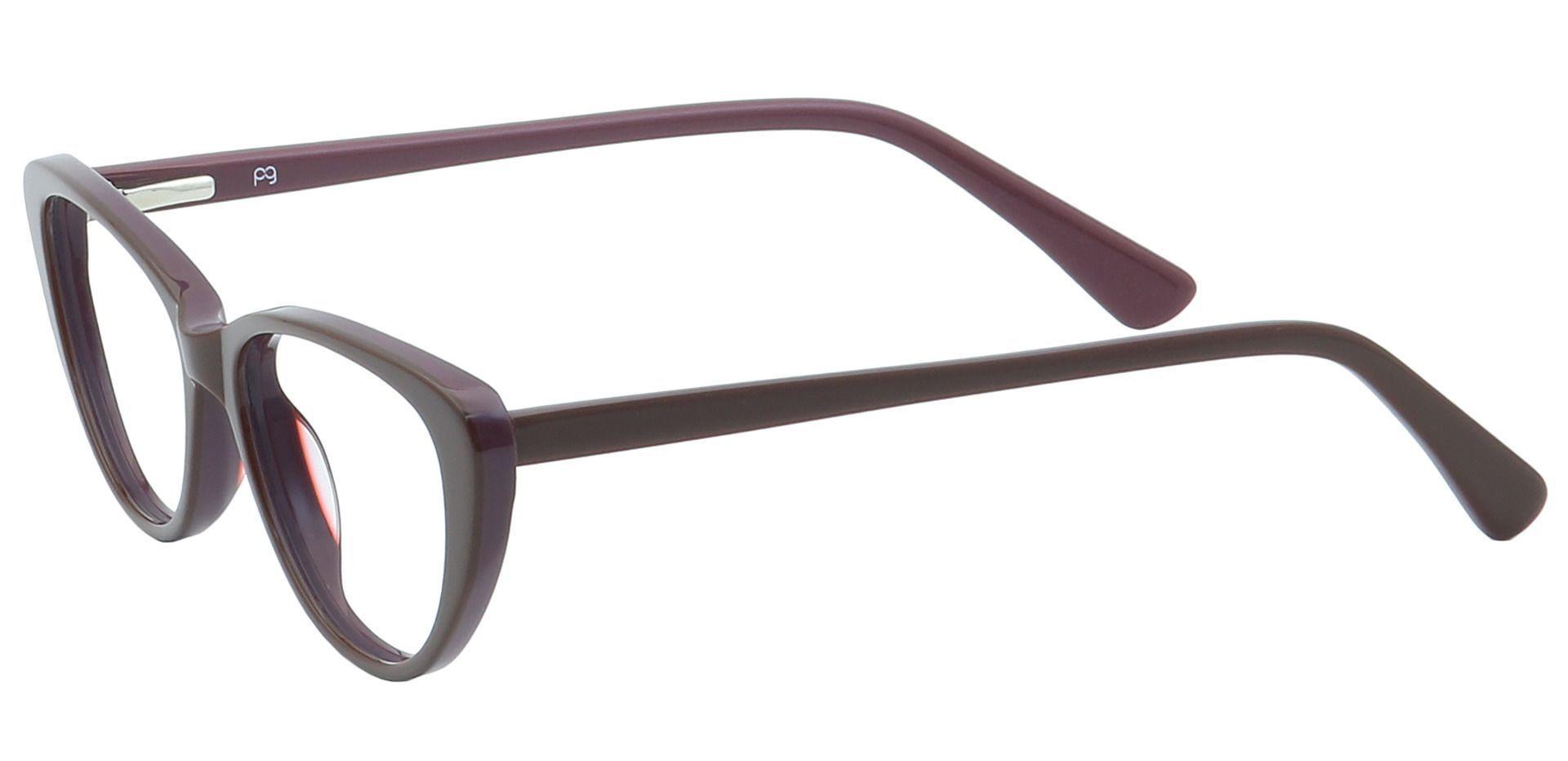 Cacia Cat-Eye Single Vision Glasses - Brown