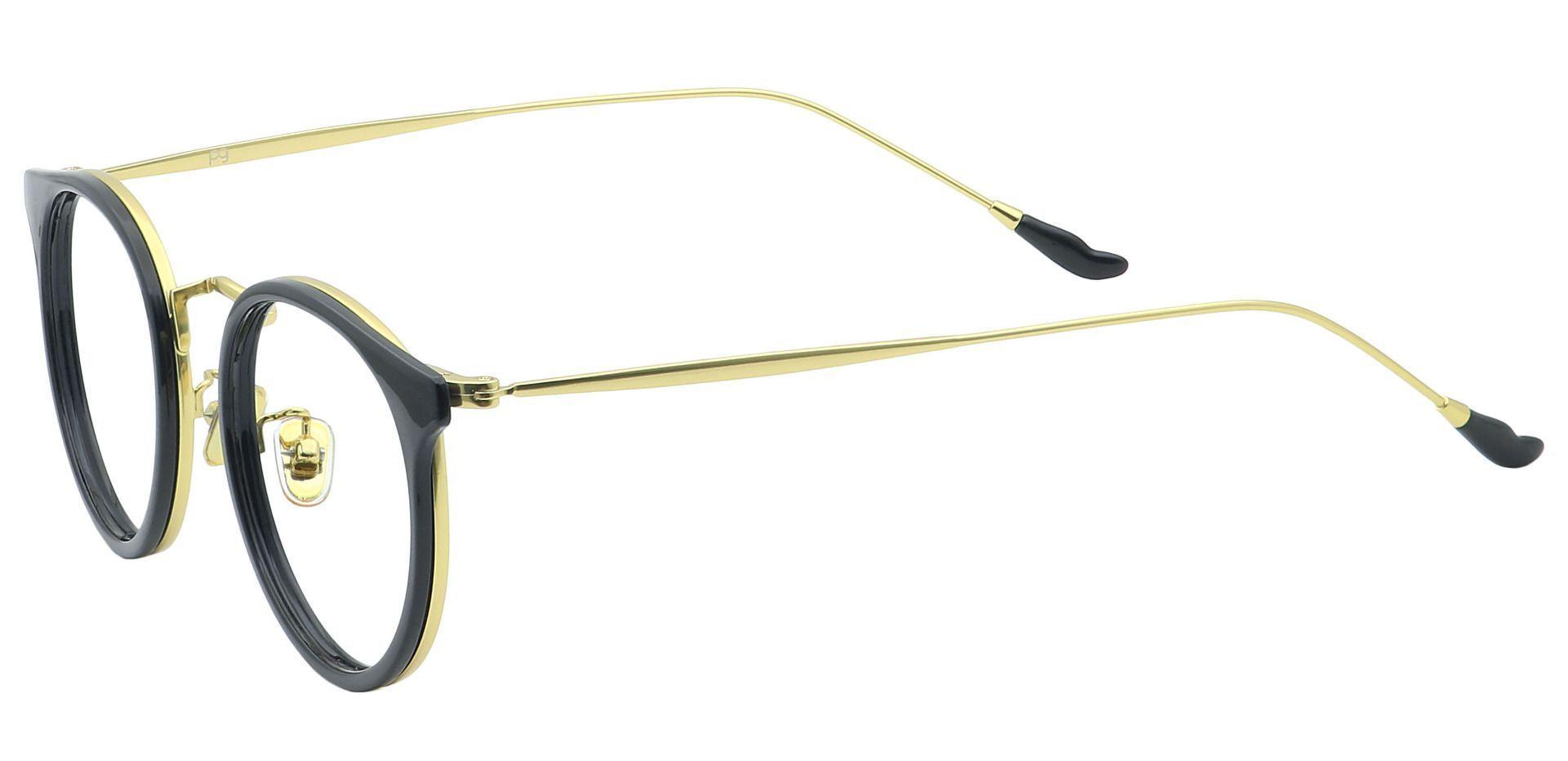 Schenley Round Reading Glasses - Black