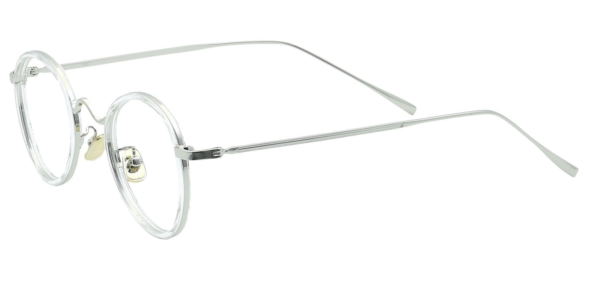 Emery Oval Blue Light Blocking Glasses - Clear