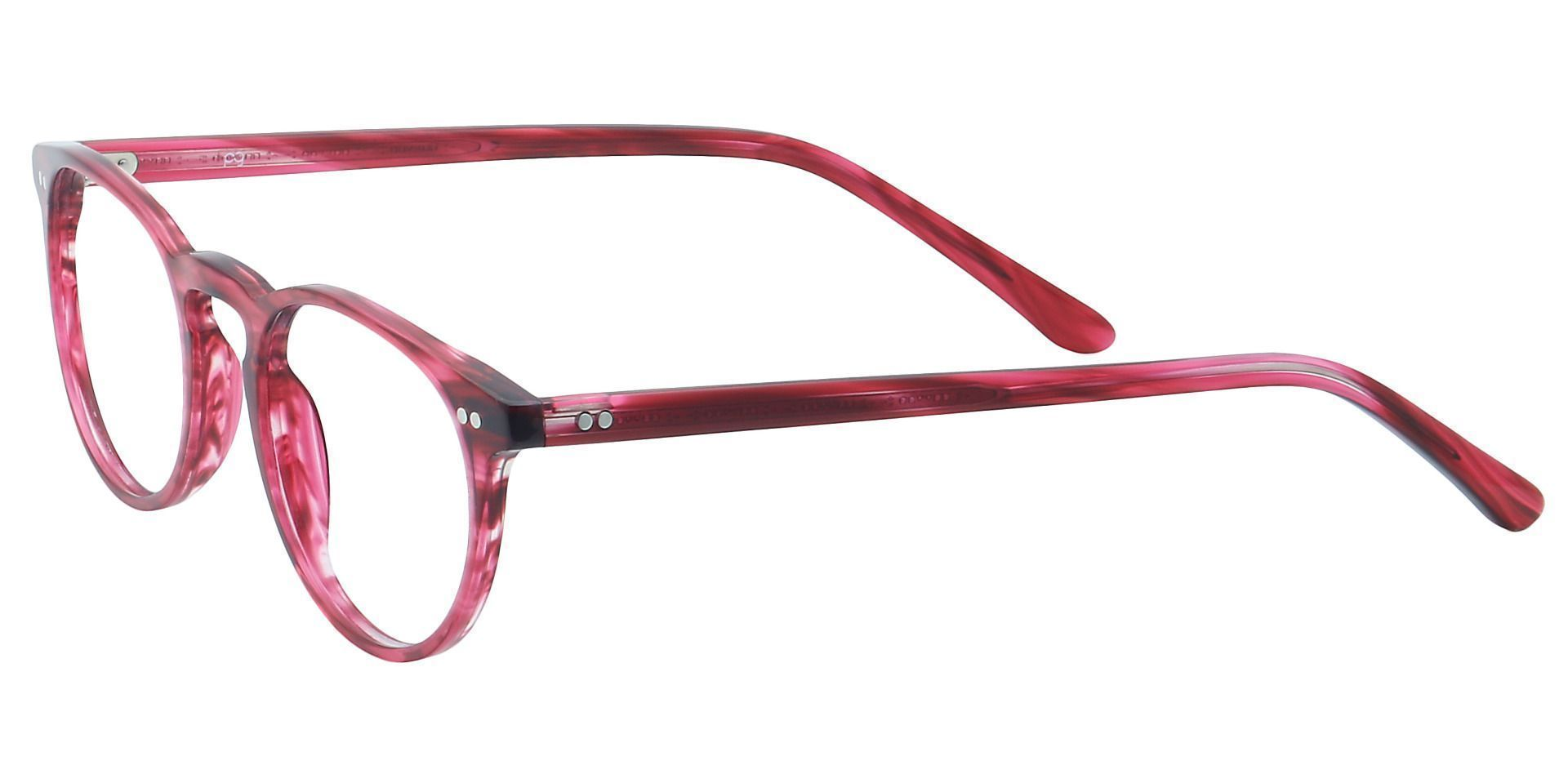 Marley Oval Lined Bifocal Glasses - Red