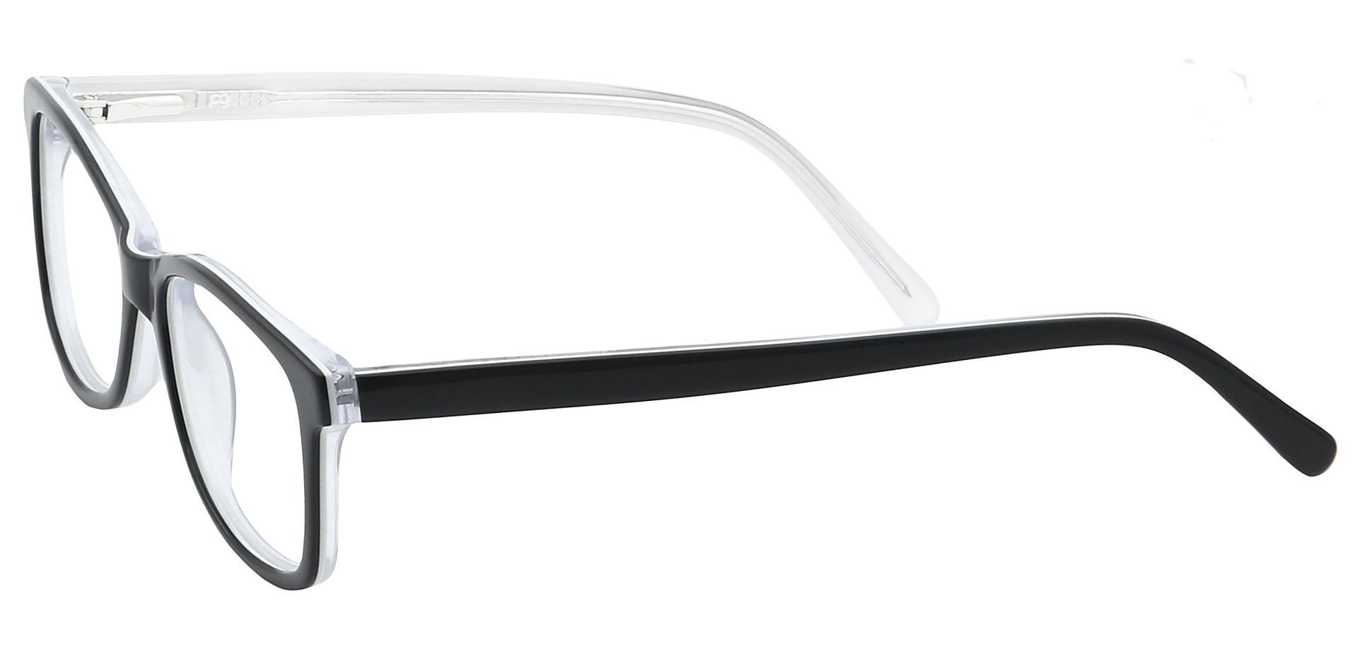 Dakota Square Prescription Glasses - Black