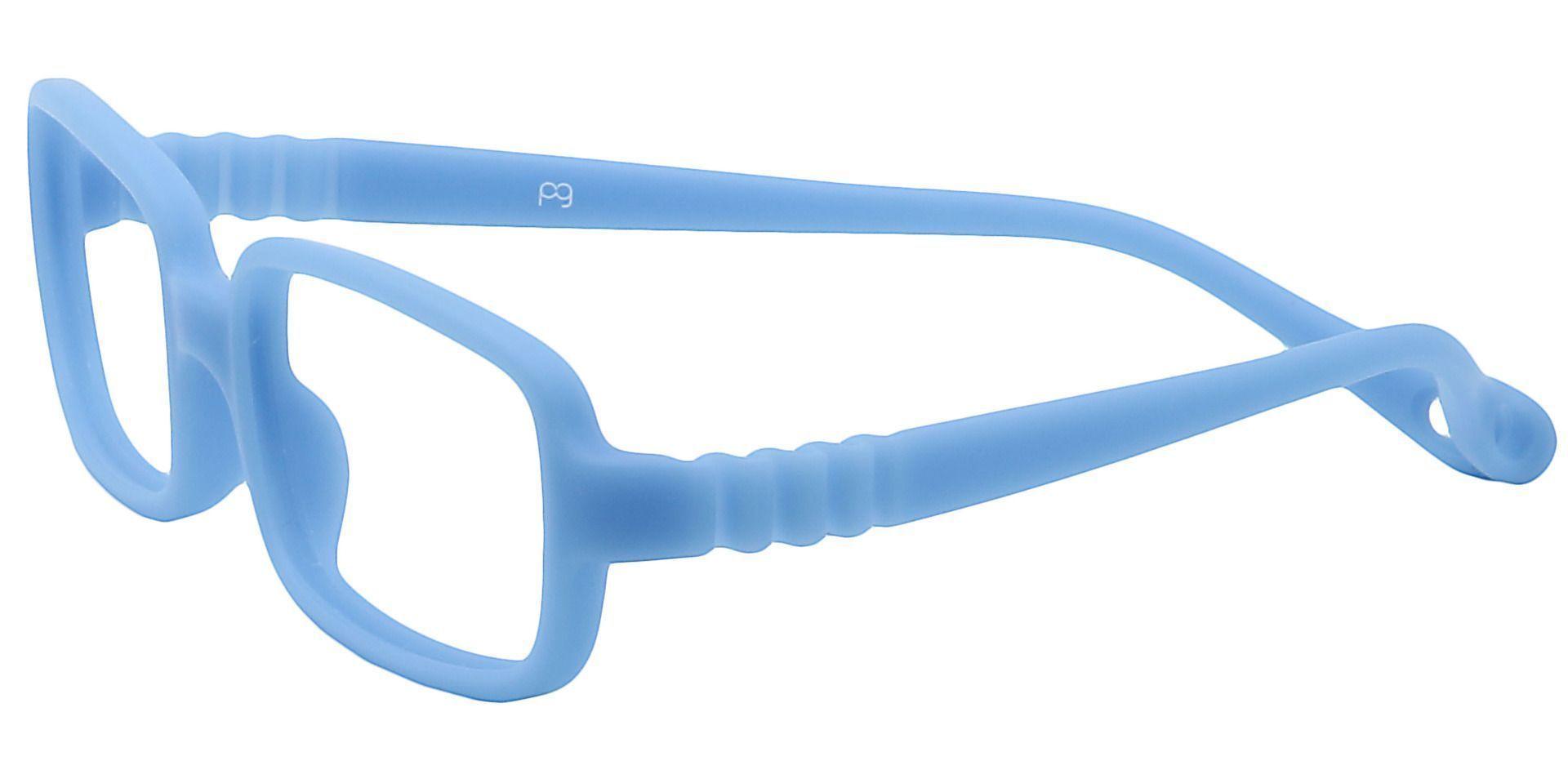 Archer Rectangle Blue Light Blocking Glasses - Blue