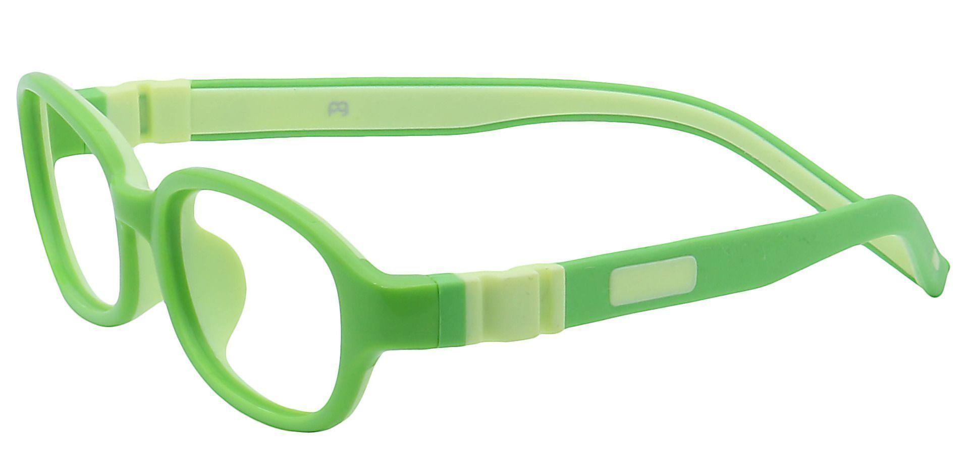 Scoop Oval Blue Light Blocking Glasses -  Lime Green /kiwi Green