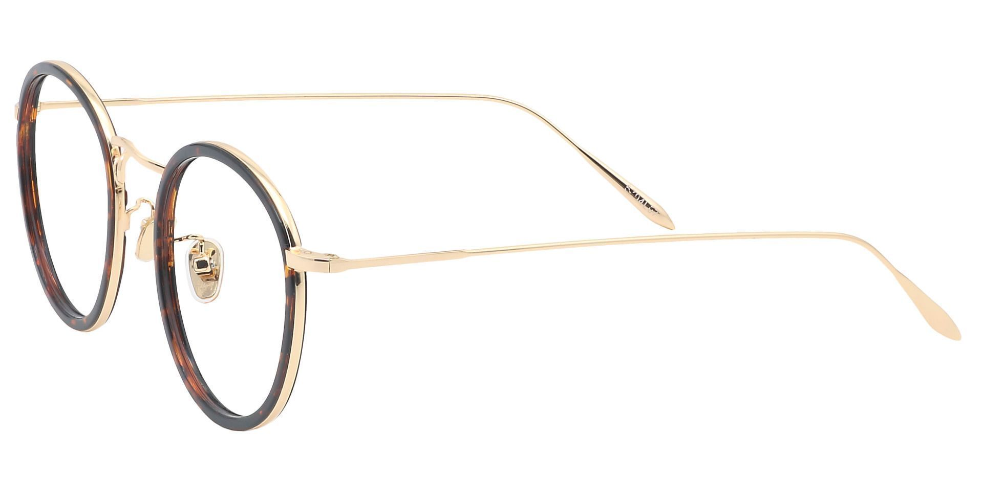 Croatia Round Prescription Glasses - Leopard
