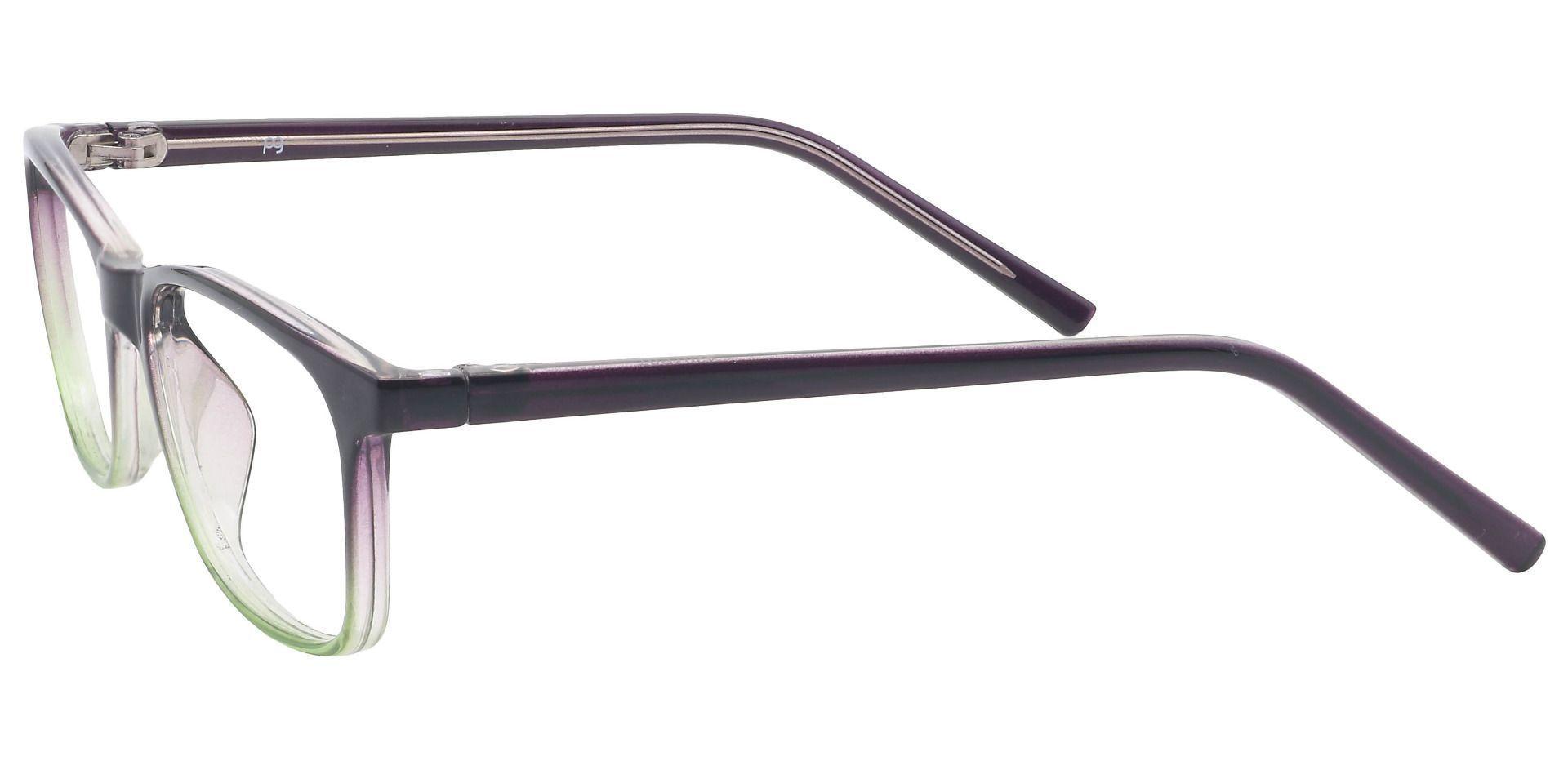Safita Oval Lined Bifocal Glasses - Grape/kiwi Fade