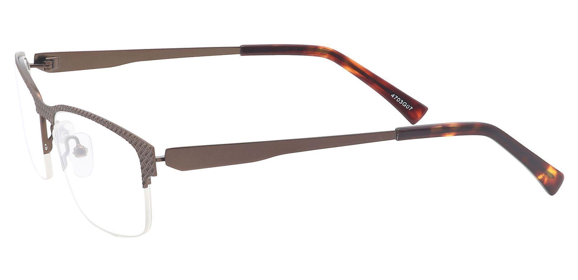 Bret Rectangle Blue Light Blocking Glasses - Brown