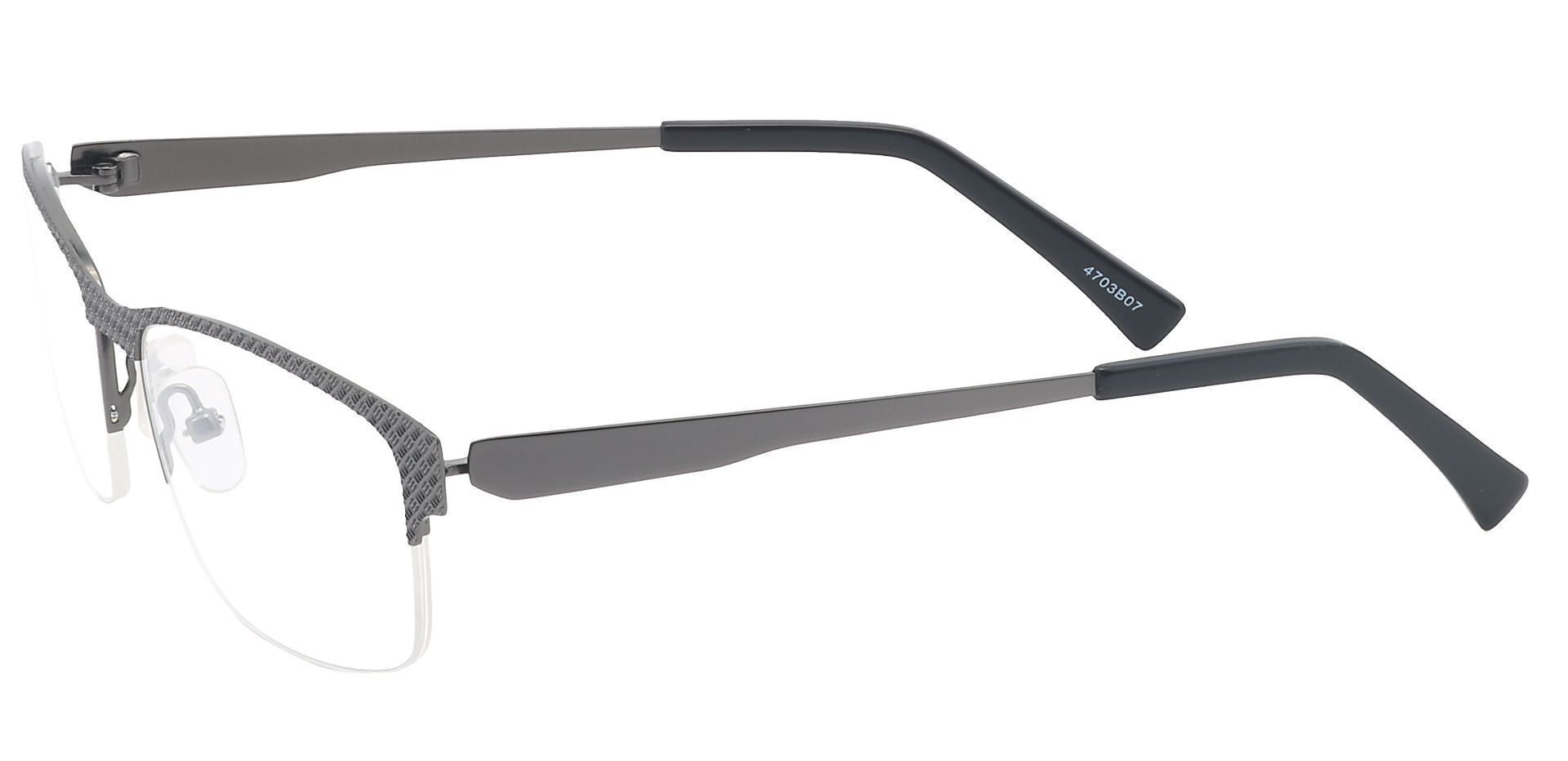 Bret Rectangle Progressive Glasses - Gray