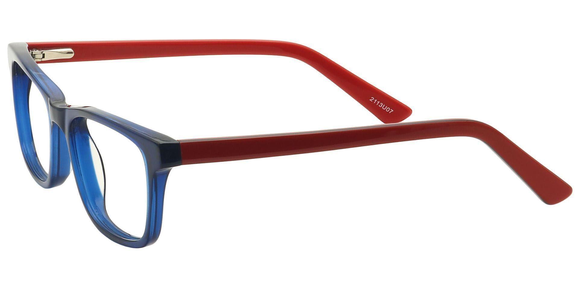 Blair Rectangle Prescription Glasses - Blue