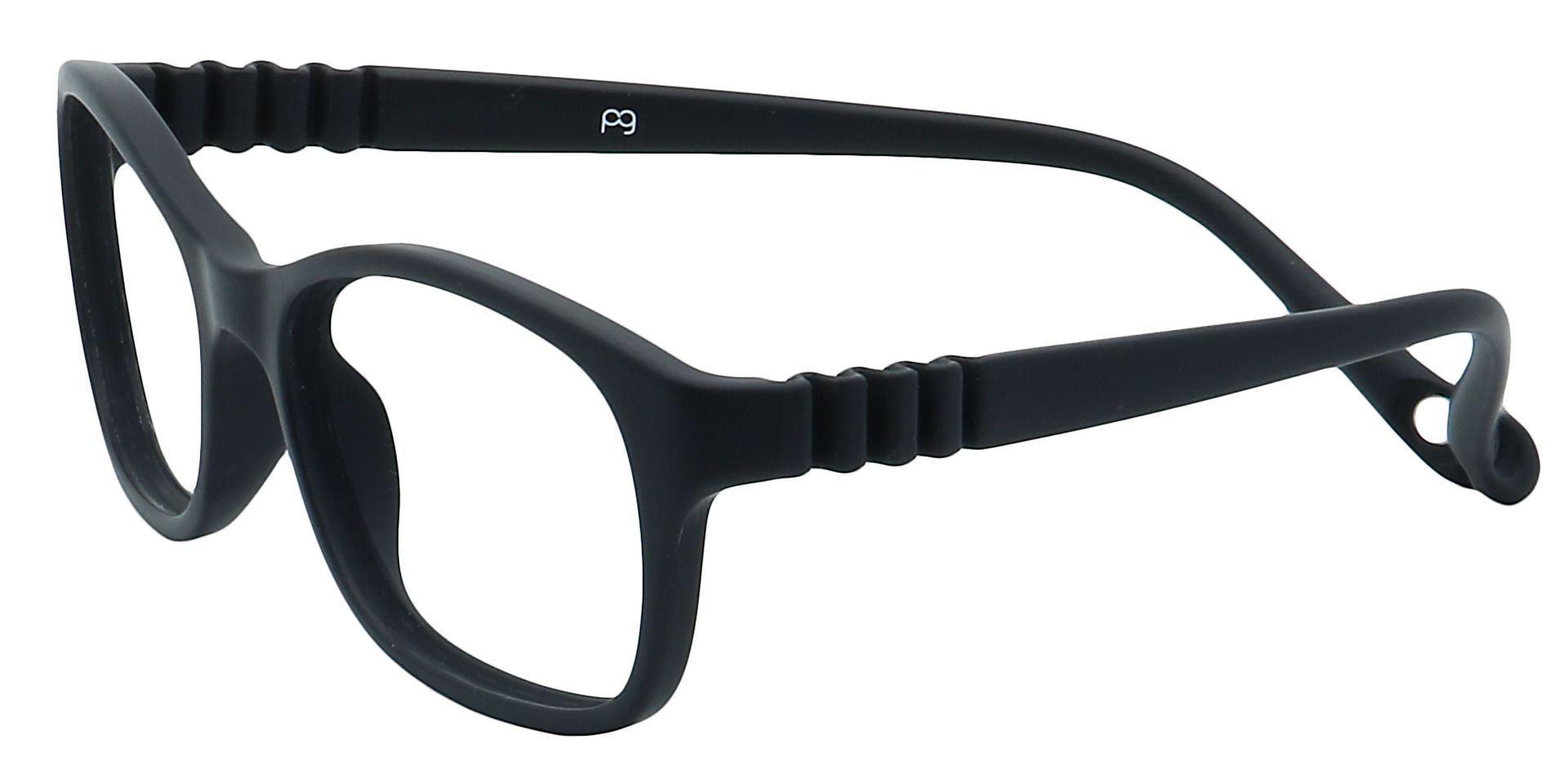 Sunny Oval Blue Light Blocking Glasses - Black
