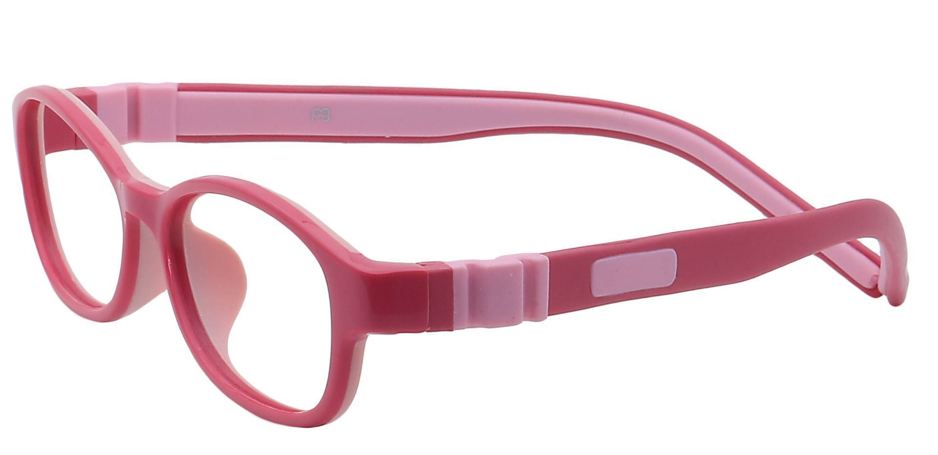 Moxie Oval Prescription Glasses - Bright Pink/pale Pink