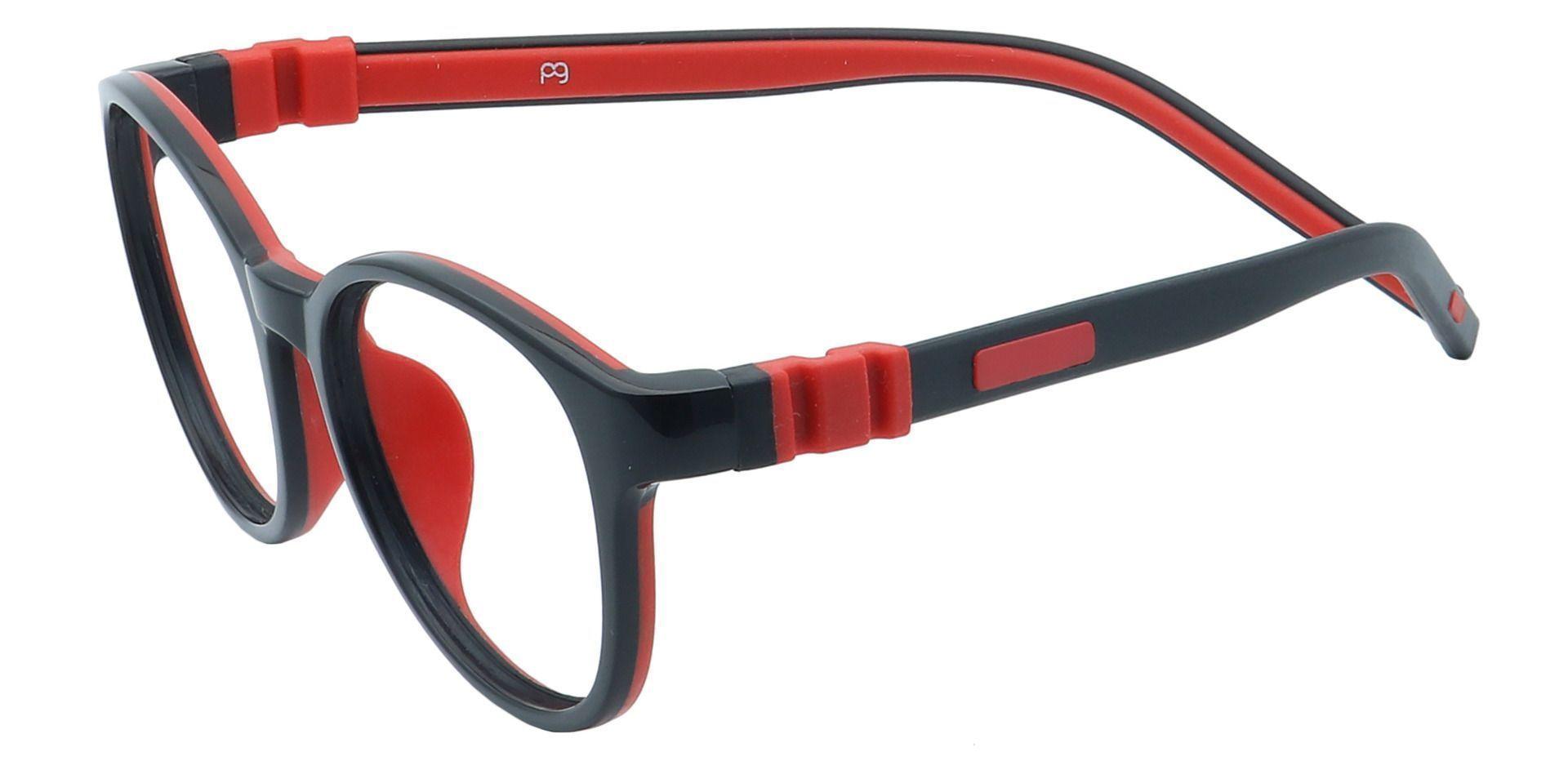 Pace Round Prescription Glasses - Red