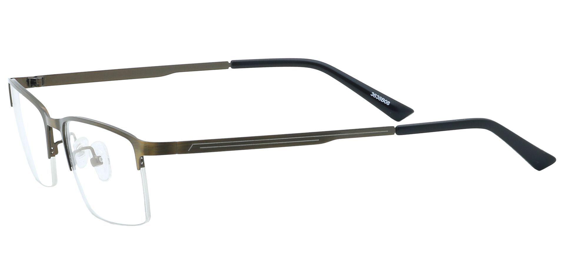 Rue Rectangle Non-Rx Glasses - Brown