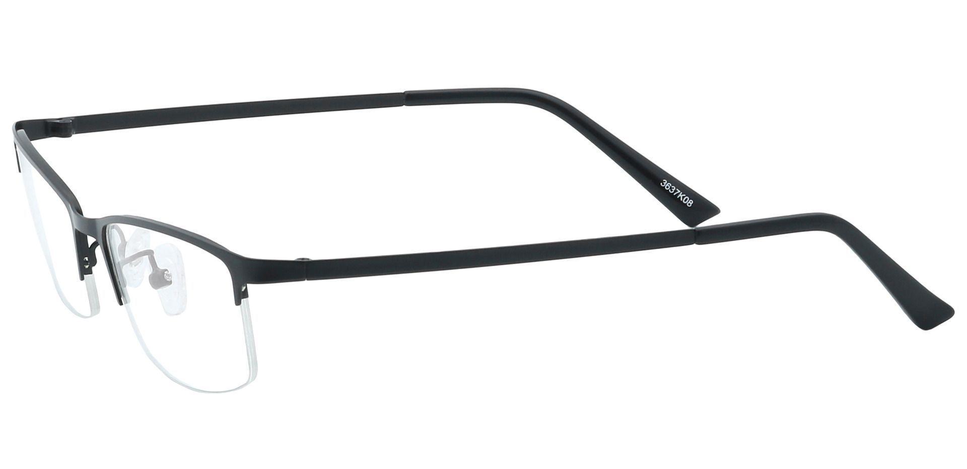 Tay Rectangle Prescription Glasses - Black
