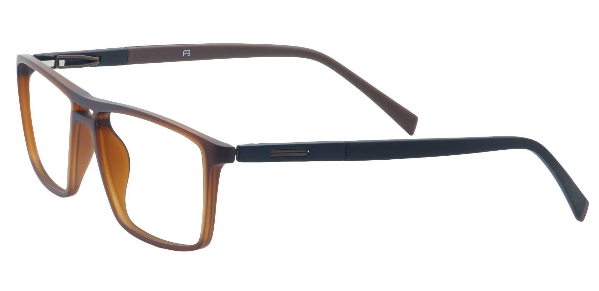 Covone Rectangle Progressive Glasses - Brown