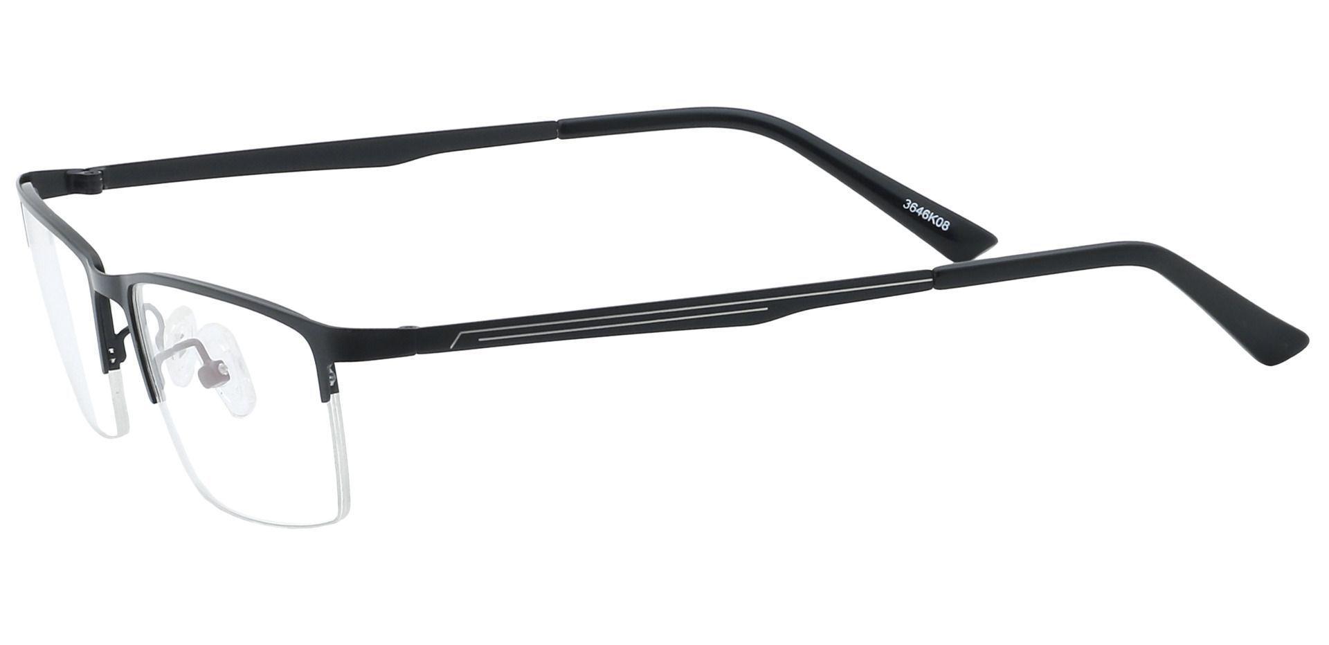 Lombard Rectangle Eyeglasses Frame - Black