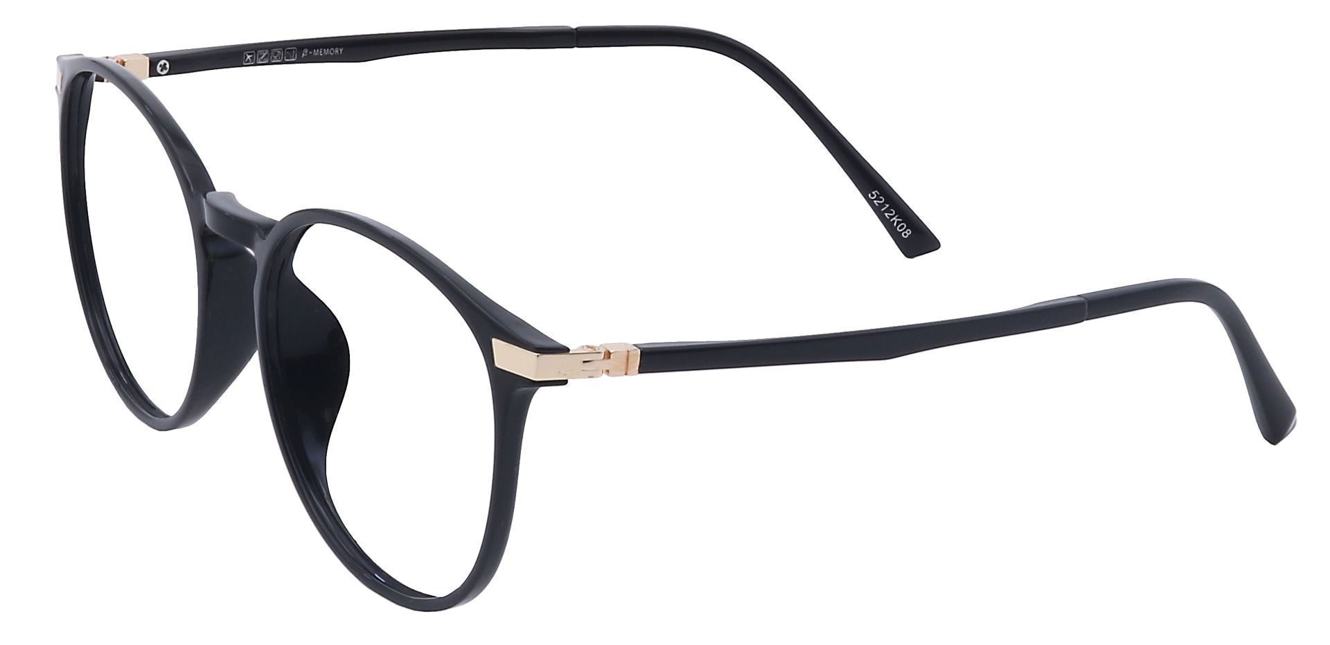 Brighton Oval Prescription Glasses - Black