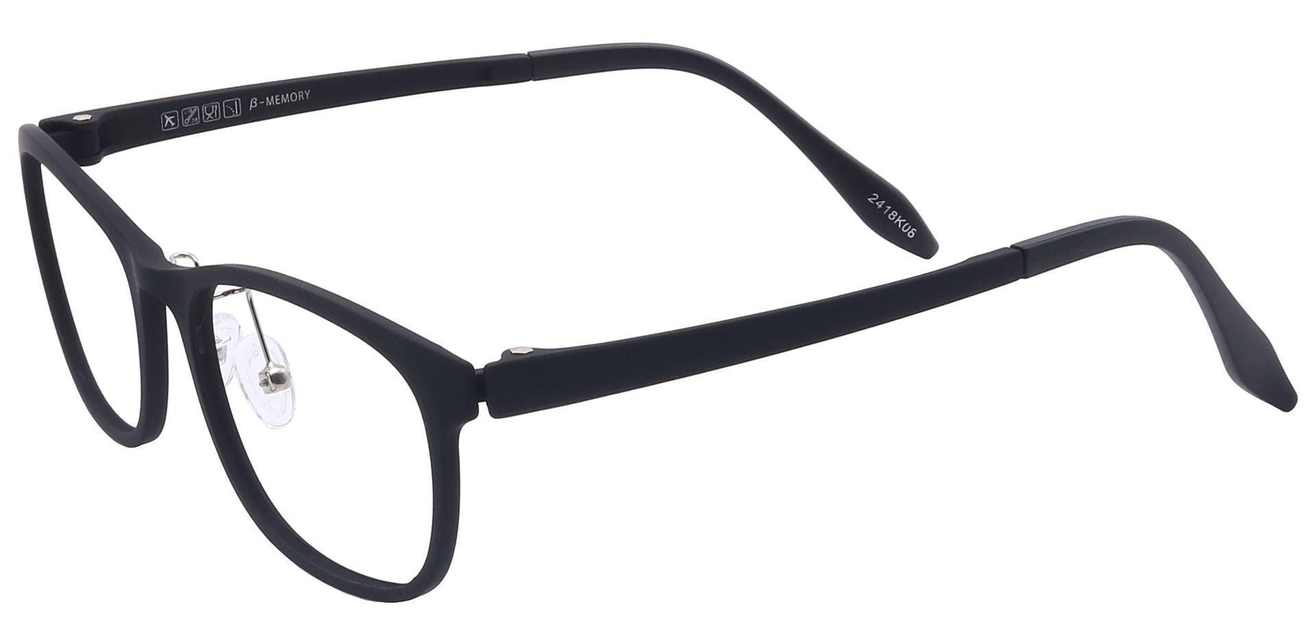 Tori Oval Non-Rx Glasses - Black