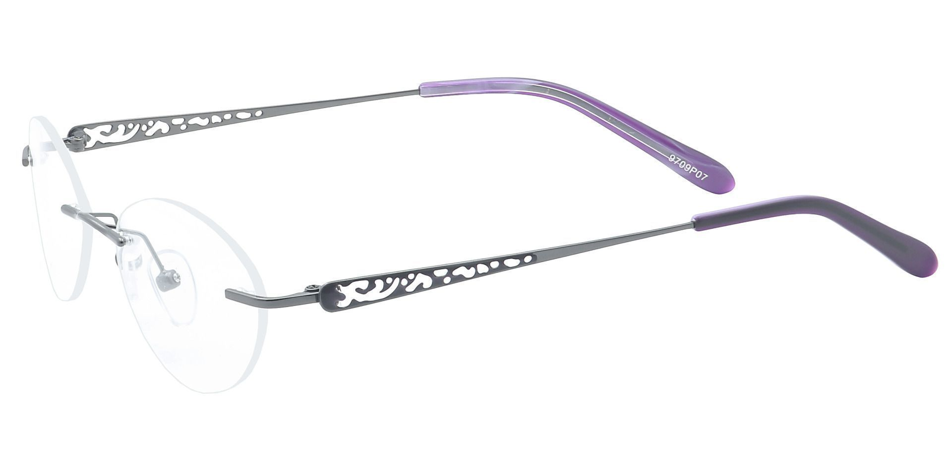 Christina Rimless Progressive Glasses - Purple