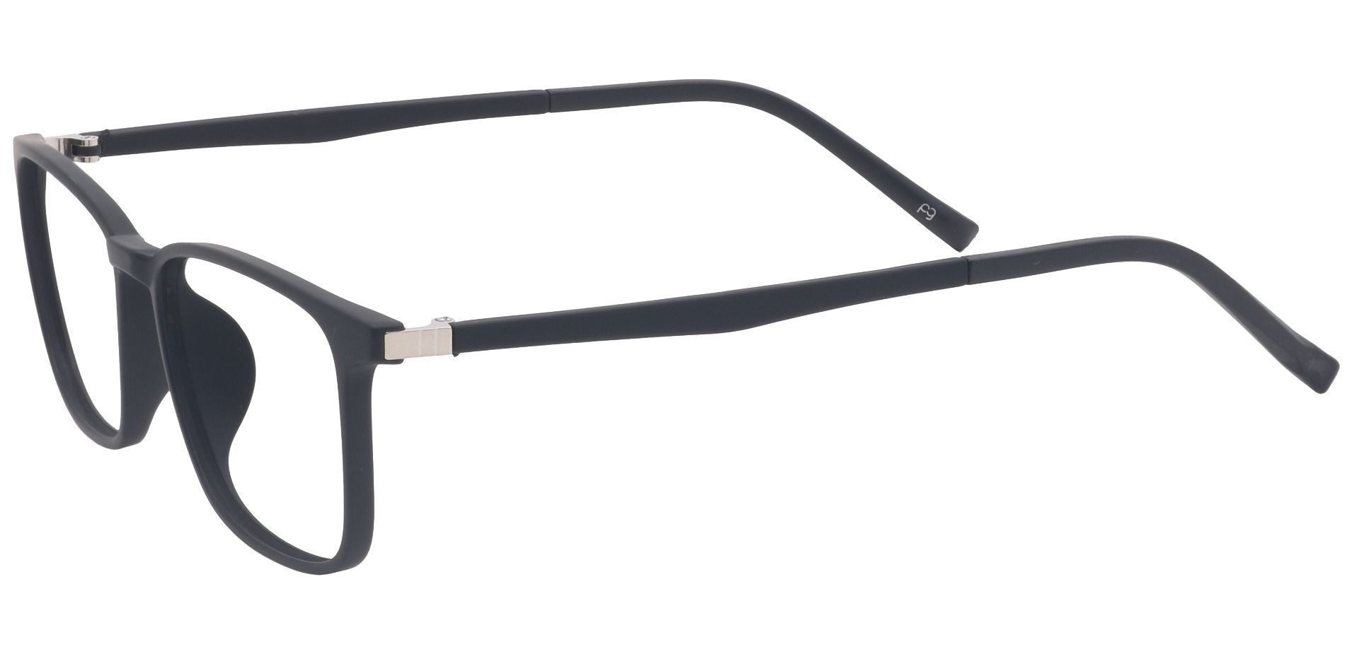Cypress Rectangle Prescription Glasses - Black