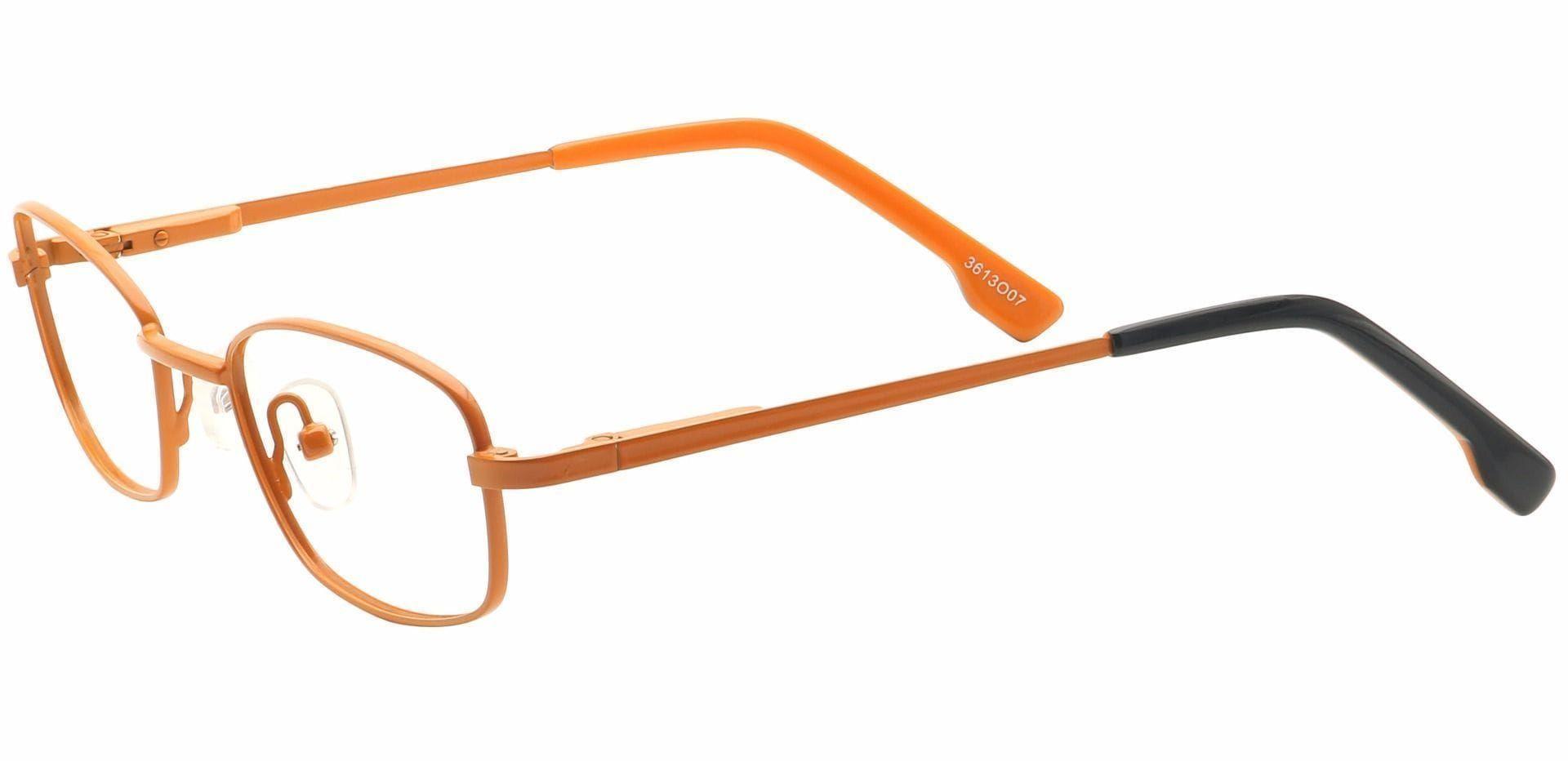 Gil Rectangle Reading Glasses - Orange