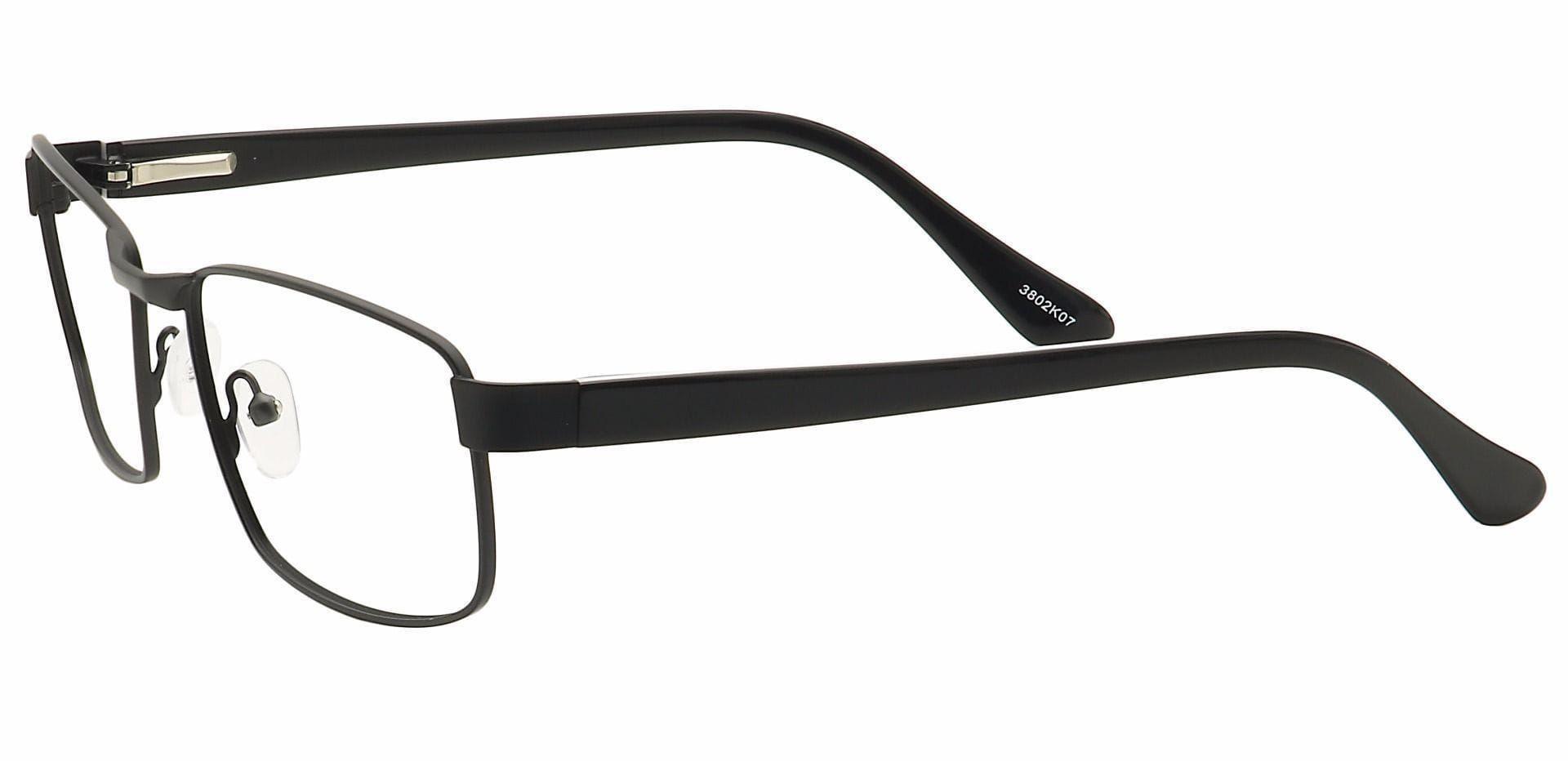 Lewis Rectangle Eyeglasses Frame - Black
