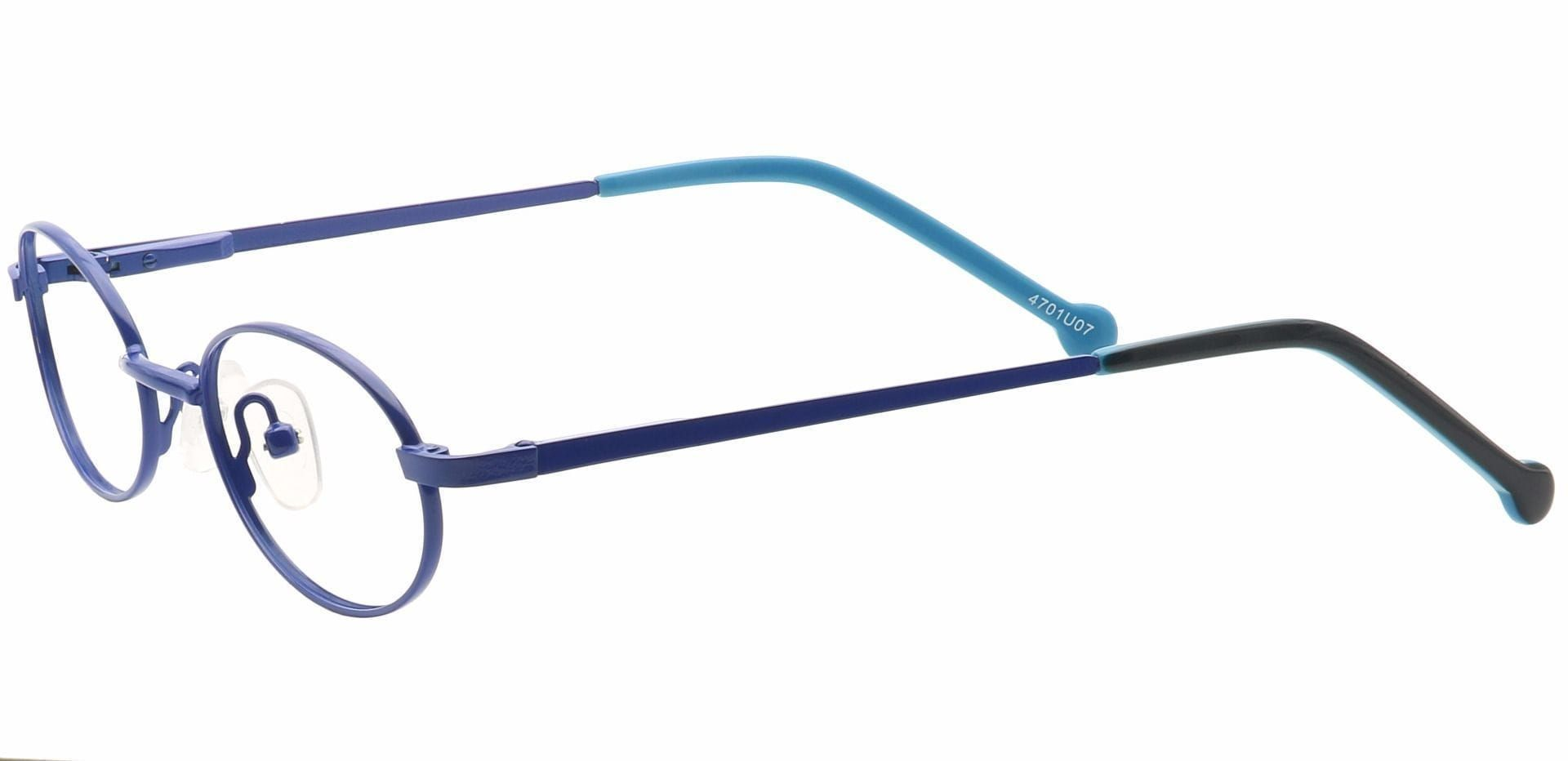 Lara Oval Non-Rx Glasses - Blue
