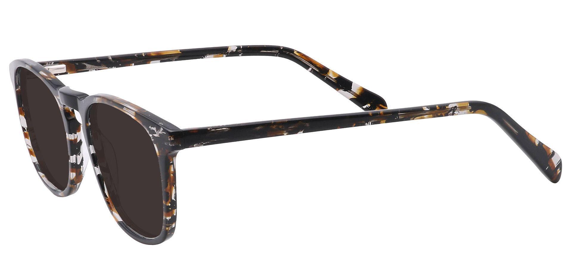 Venti Square Prescription Sunglasses - Black Frame With Gray Lenses