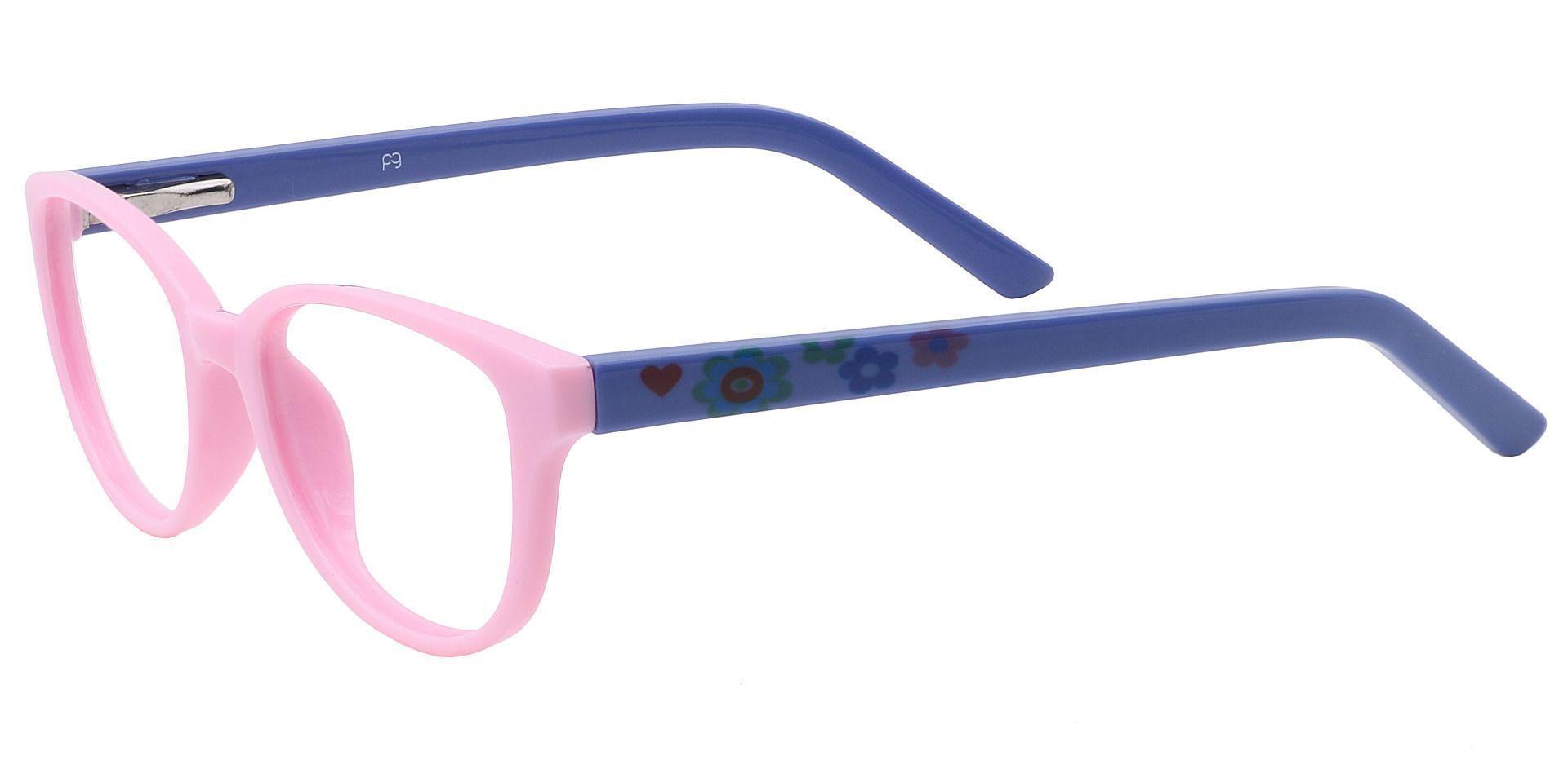 Lulu Oval Prescription Glasses - Pink