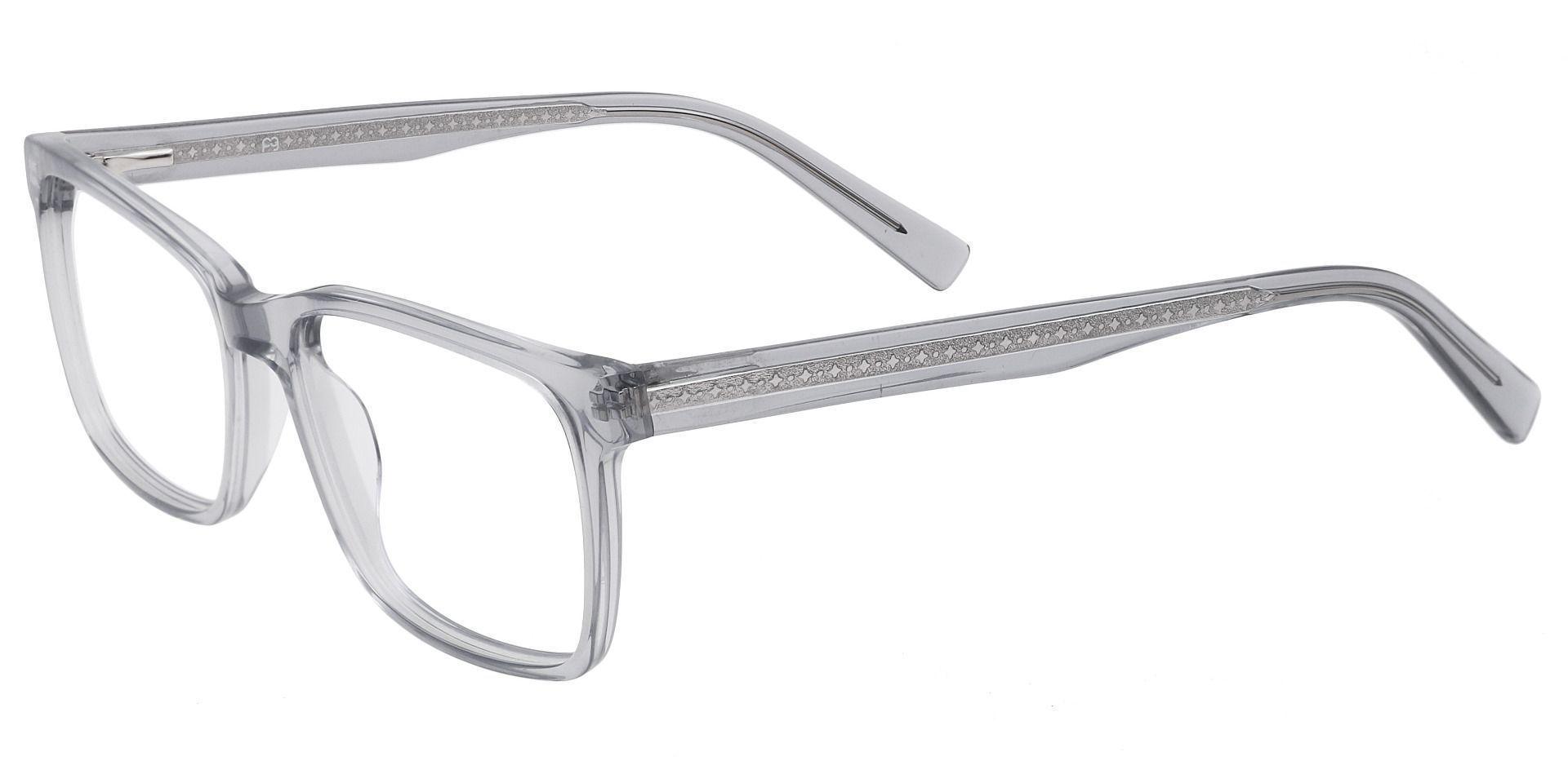 Galaxy Rectangle Prescription Glasses - Gray