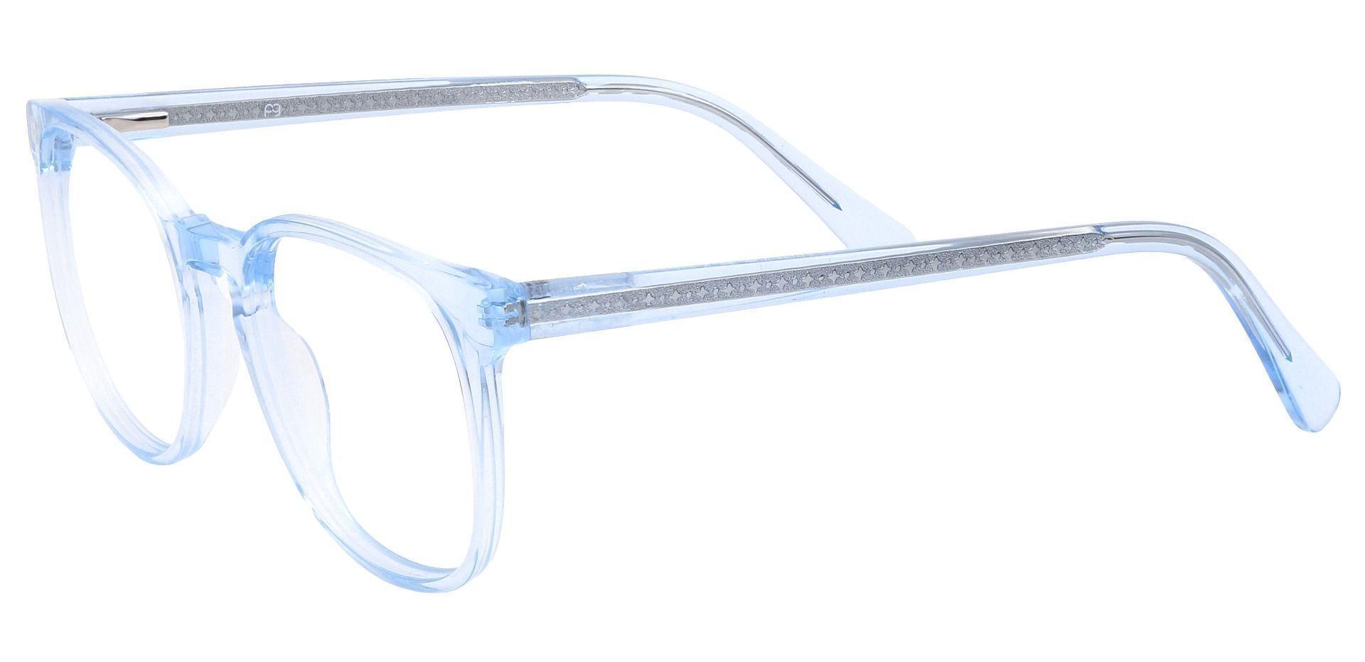 Nebula Round Prescription Glasses - Blue
