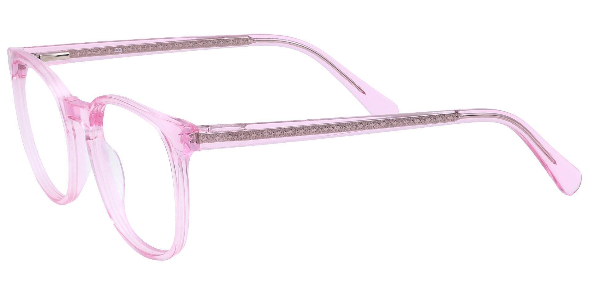 Nebula Round Prescription Glasses - Pink